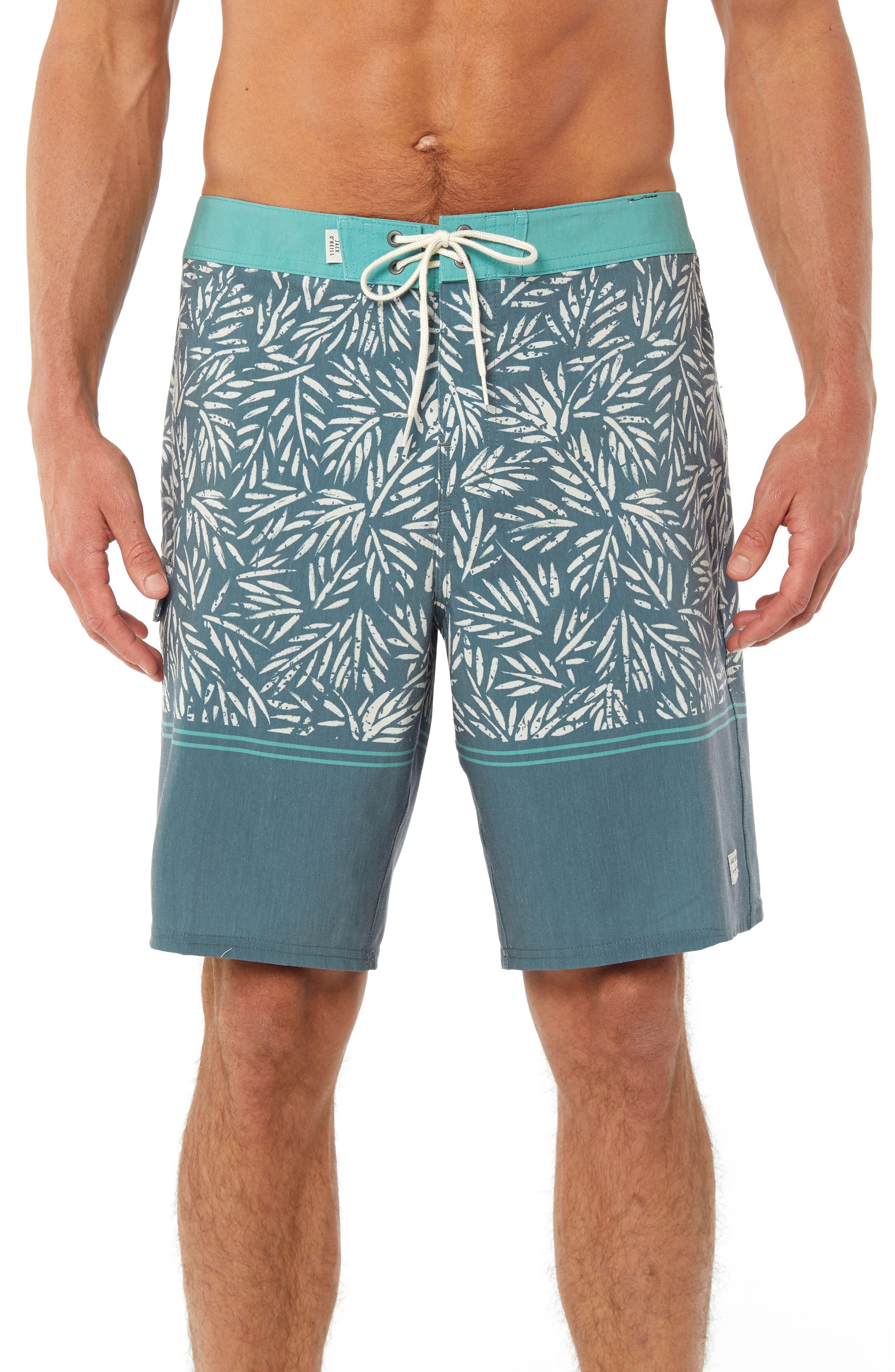 Vacay Board Shorts,                             Main thumbnail 1, color,                             DARK SEA GLASS