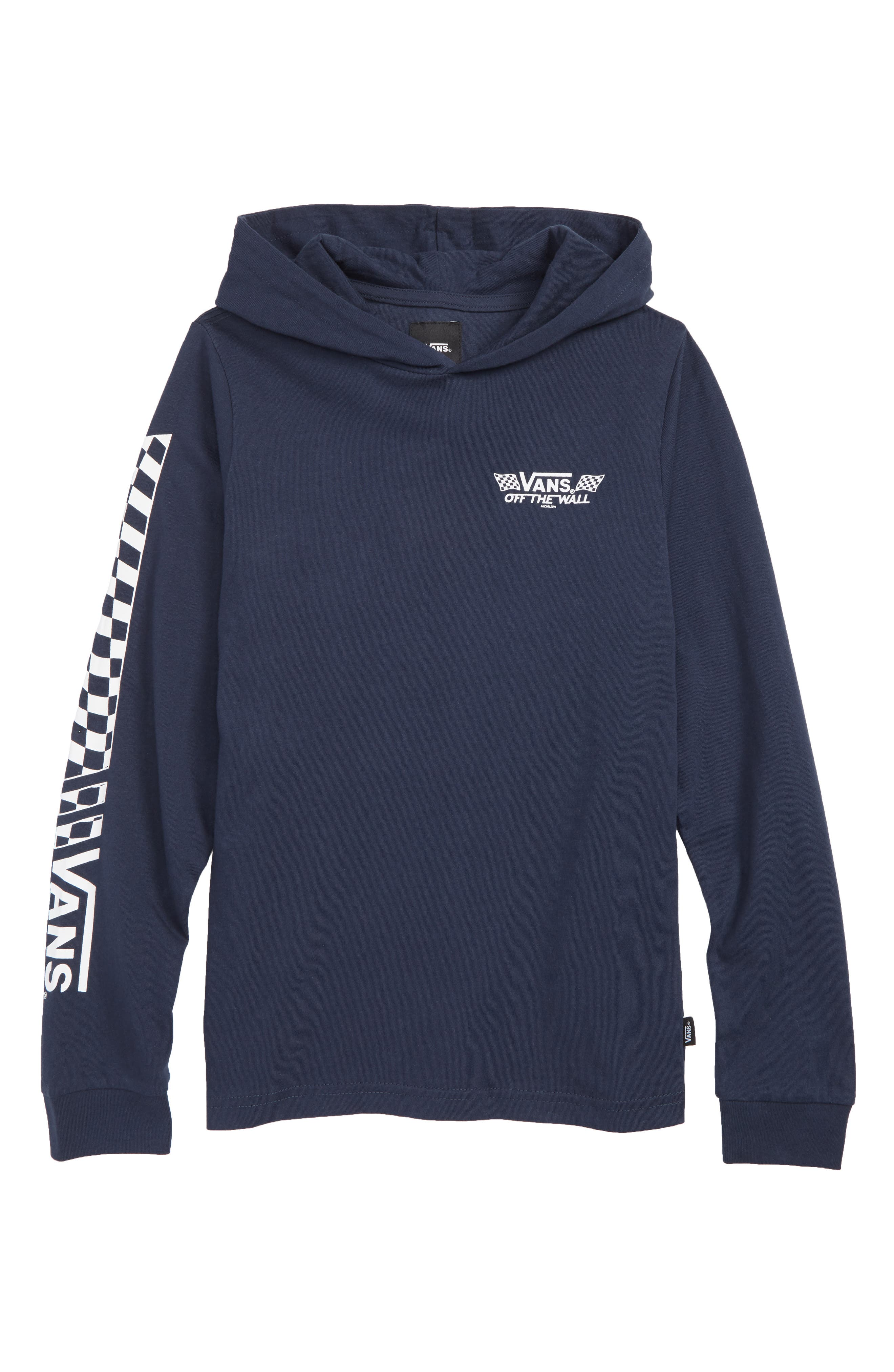 Boys Vans Van Doren Hooded Pullover Size M (1012)  Blue