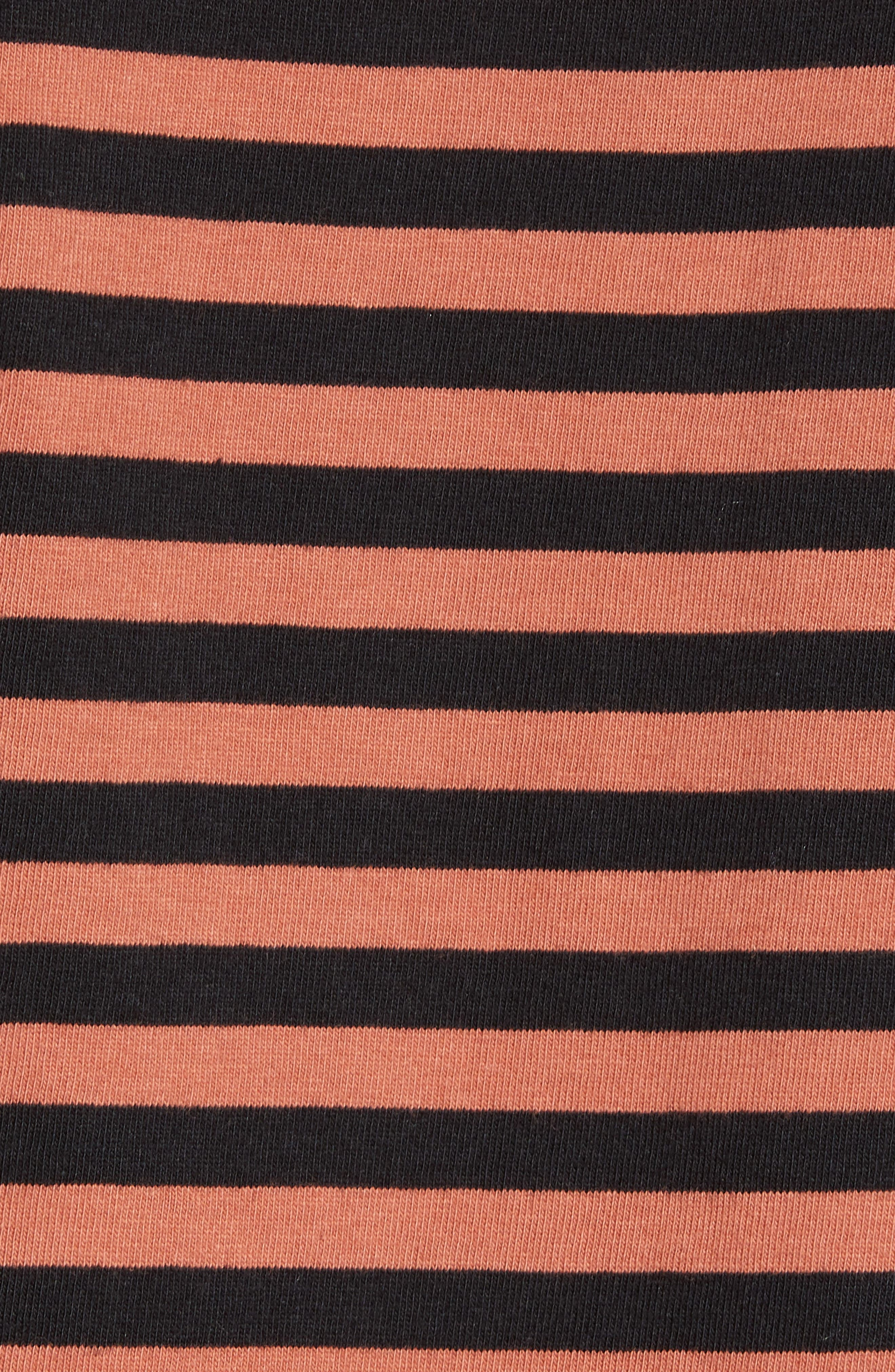 ZABEROBE Stripe Box T-Shirt,                             Alternate thumbnail 5, color,                             BRONZE/ BLACK