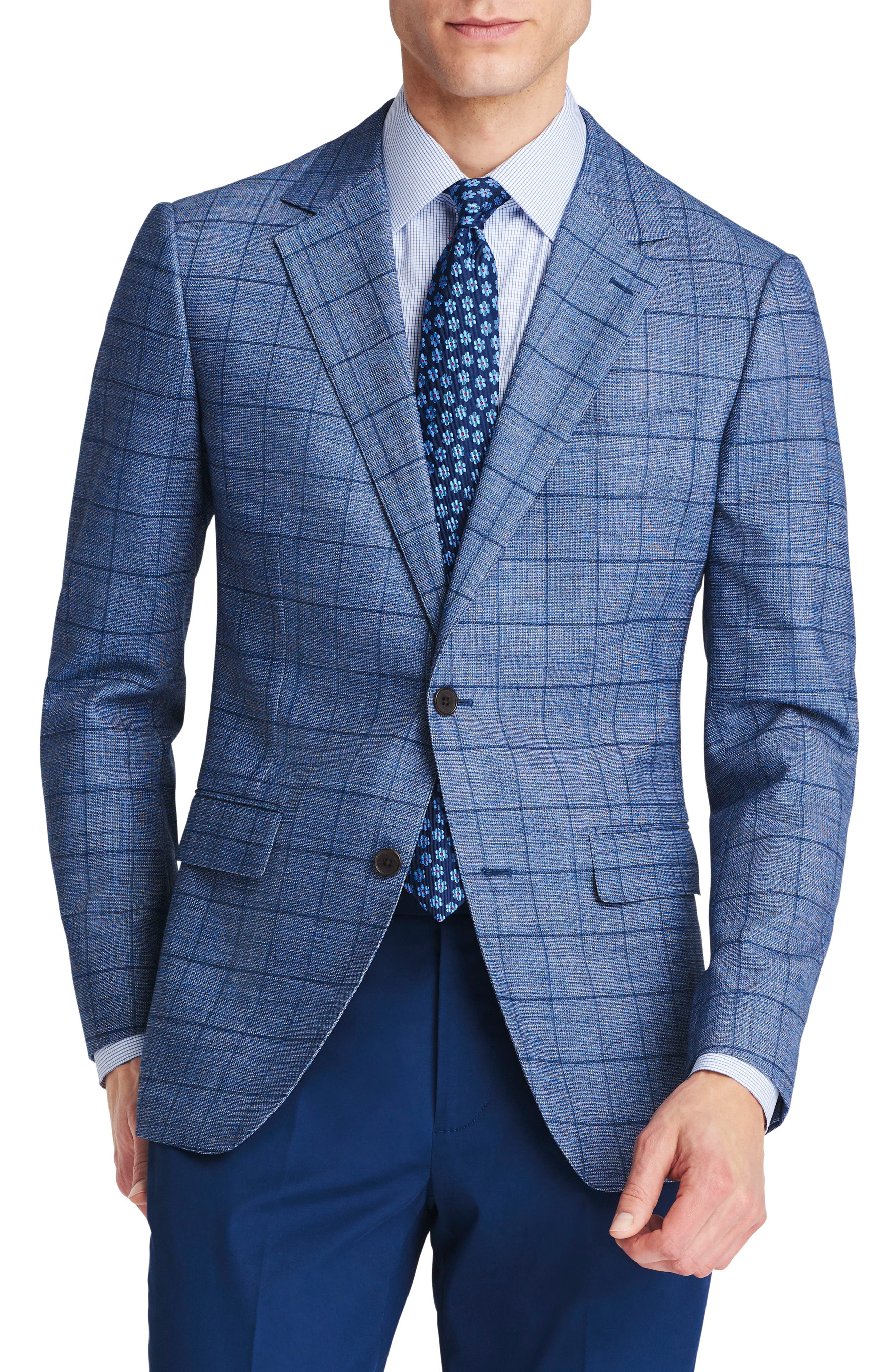Jetsetter Slim Fit Stretch Wool Blazer,                             Main thumbnail 1, color,