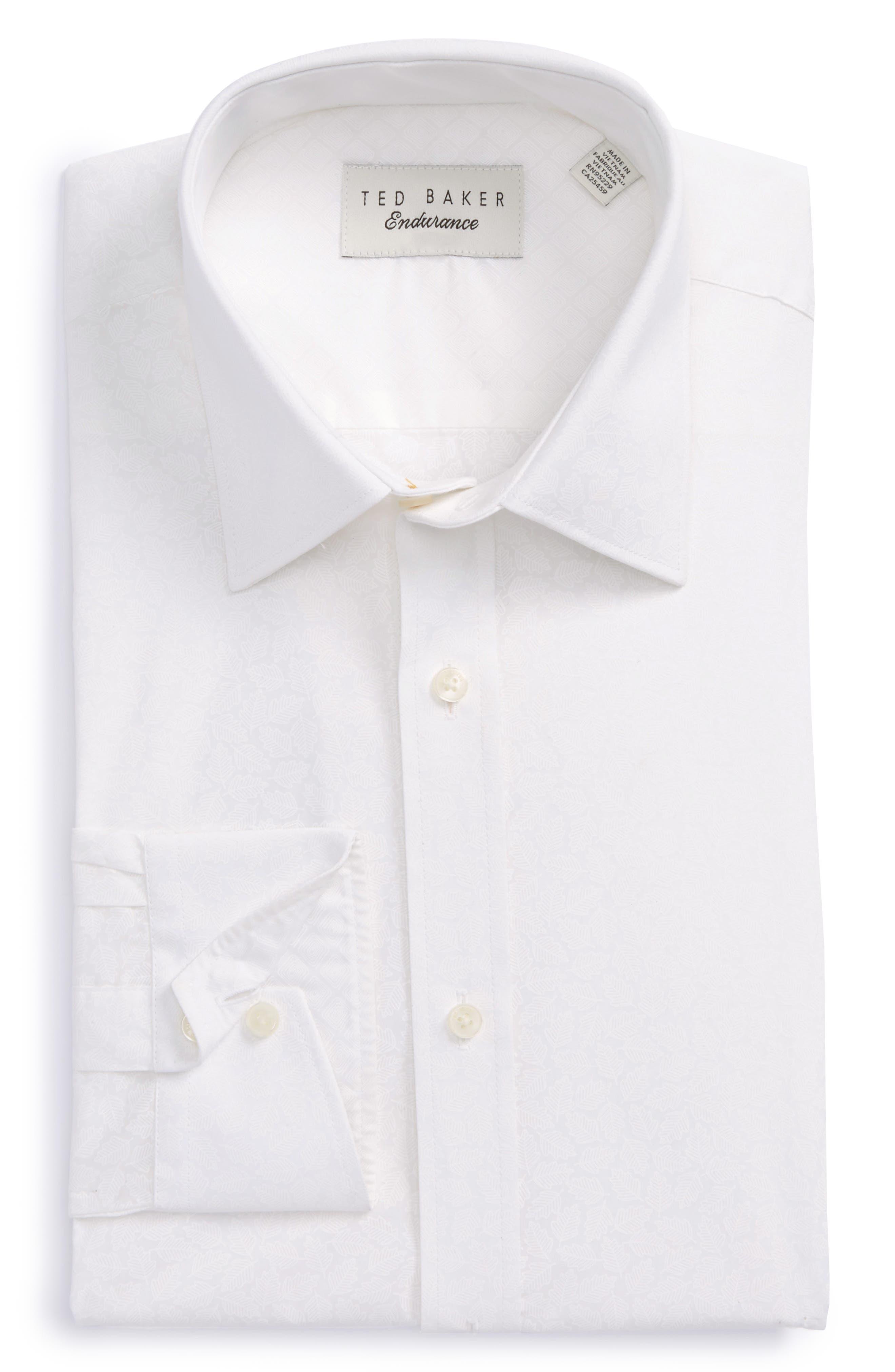 Endurance Trim Fit Print Dress Shirt,                             Main thumbnail 1, color,