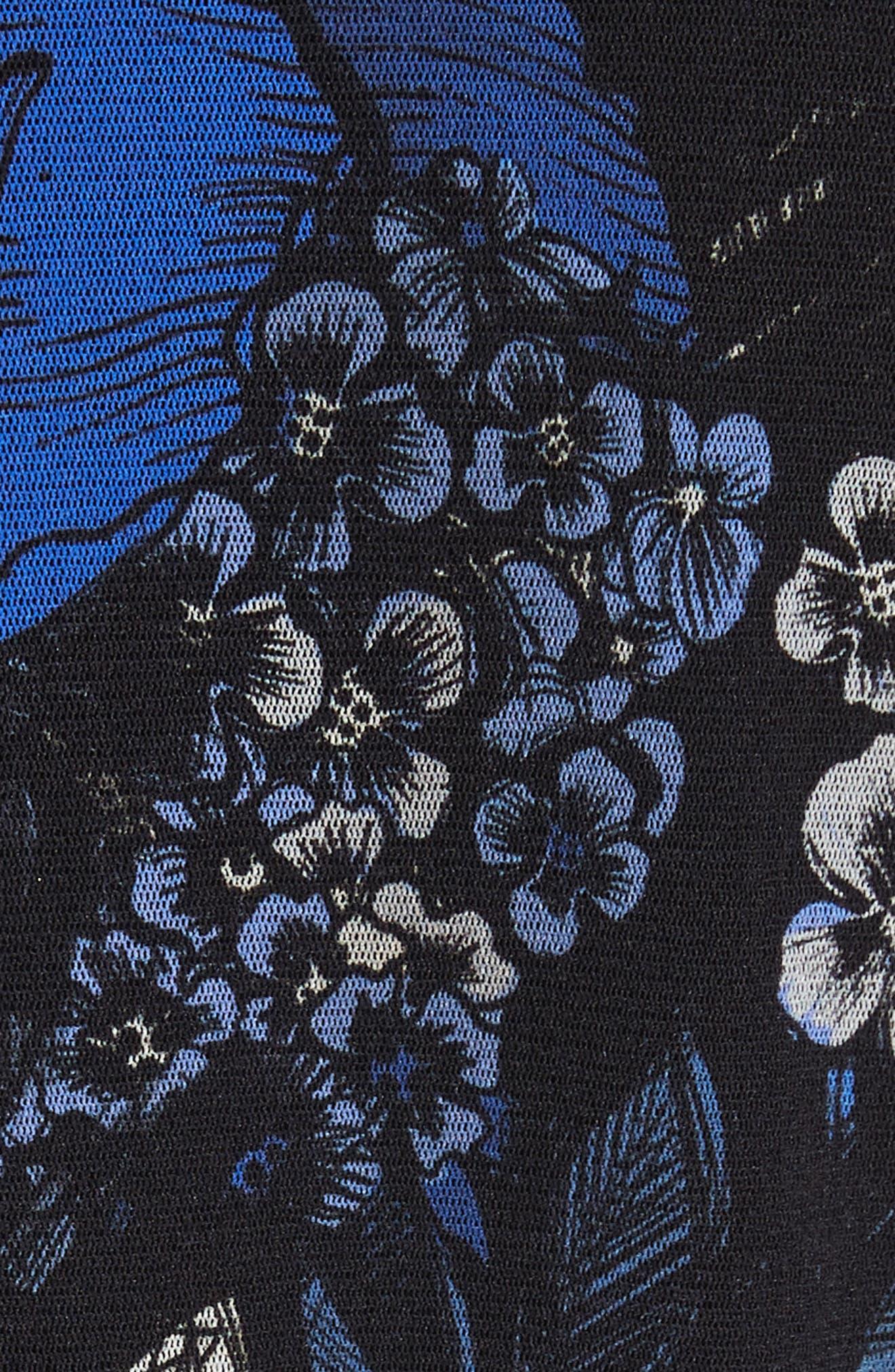 Print Tulle Bomber Jacket,                             Alternate thumbnail 6, color,                             420