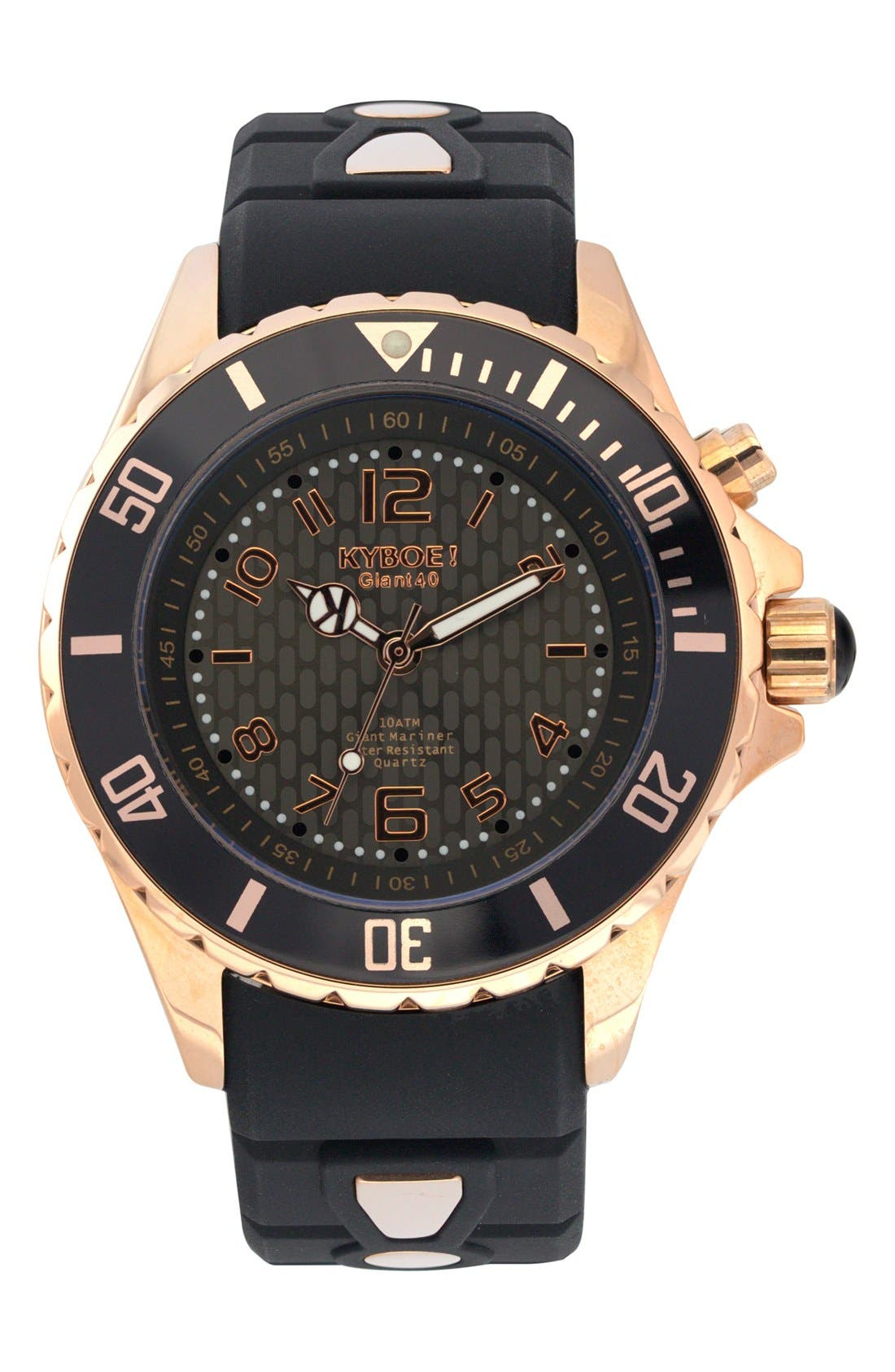 Power Silicone Strap Watch, 40mm,                         Main,                         color, 002