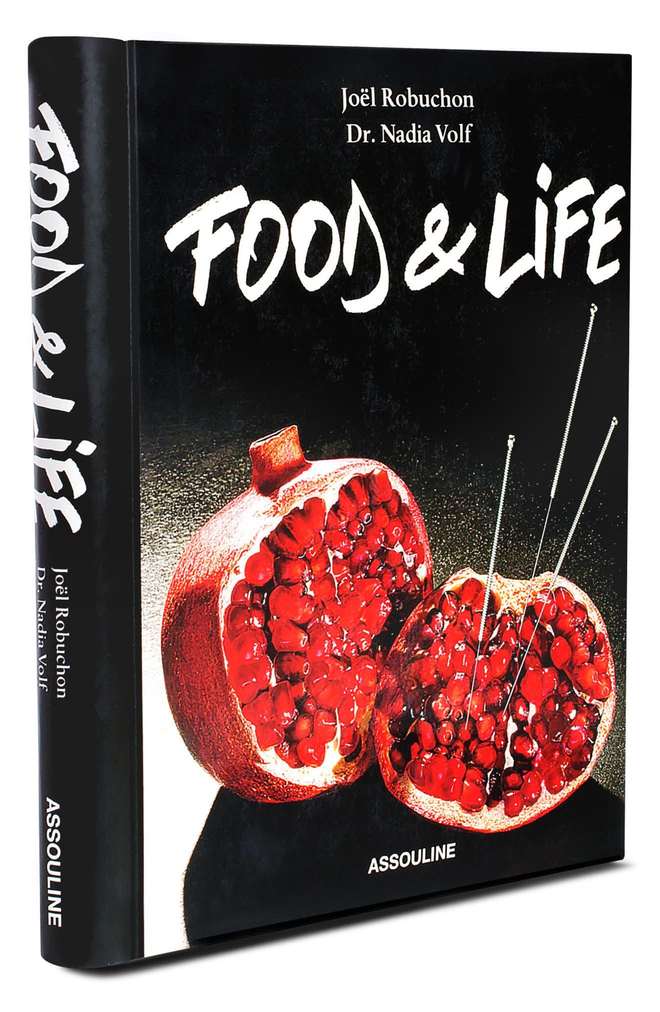'Food & Life' Book,                             Main thumbnail 1, color,                             BLACK/ RED