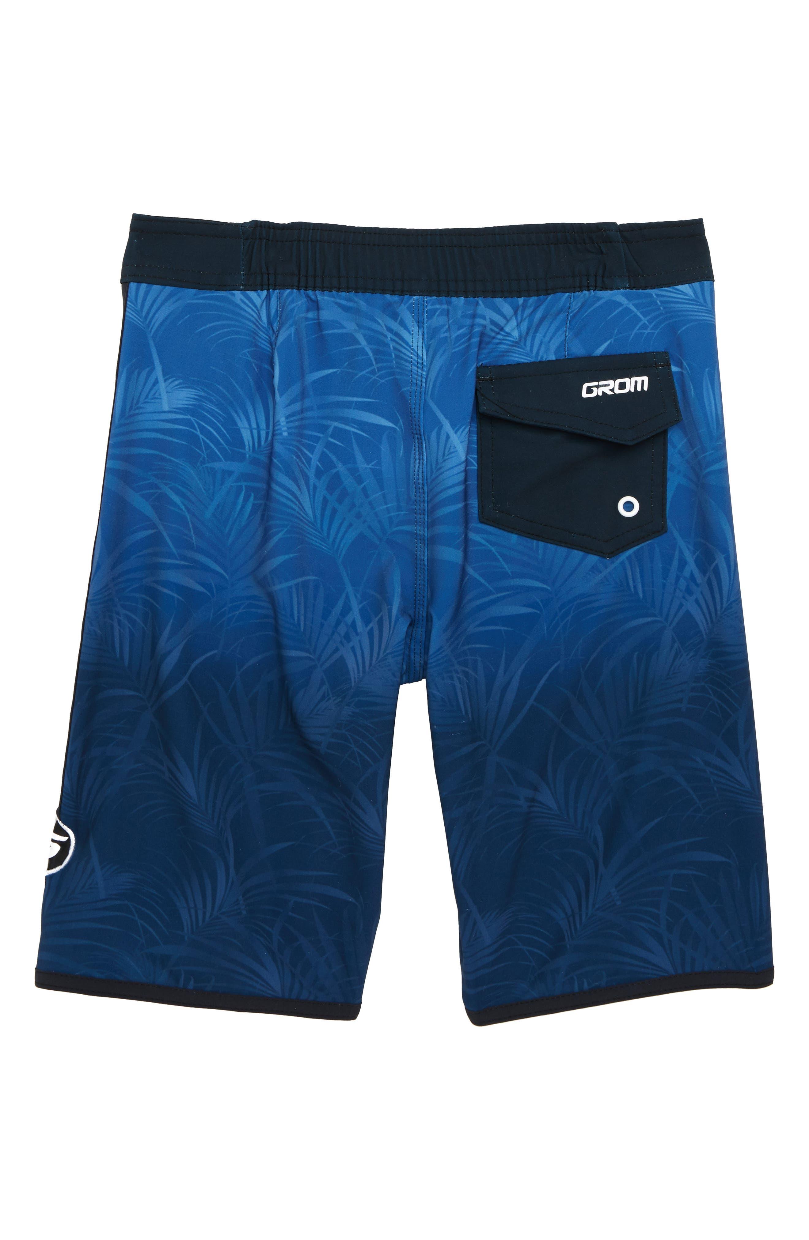 Palm Fade Board Shorts,                             Alternate thumbnail 2, color,                             BLUE