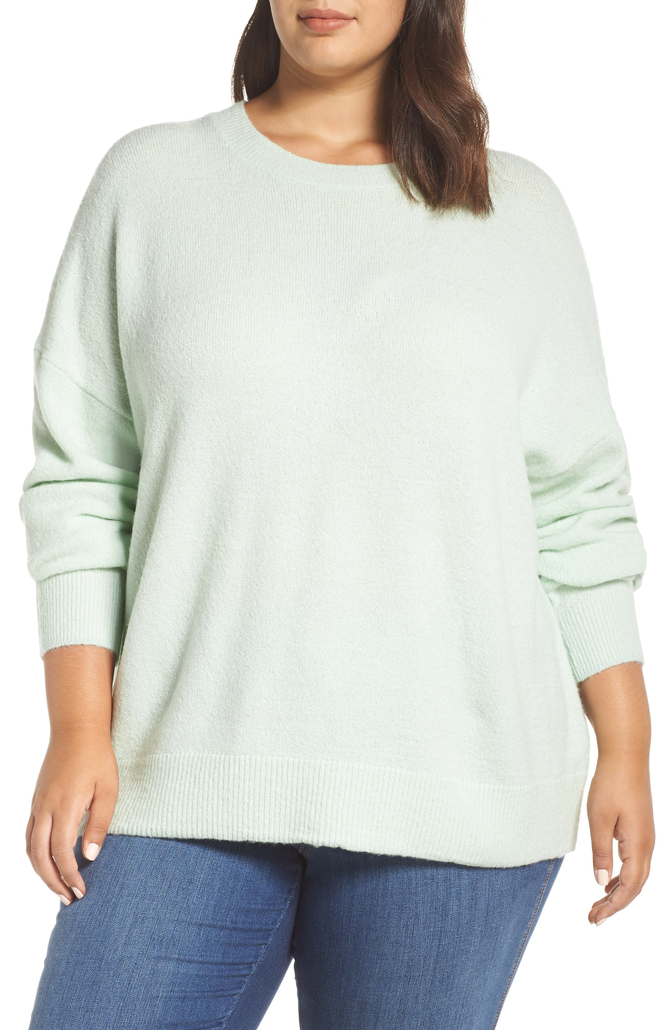 Cozy Sweater,                         Main,                         color, GREEN PLACID