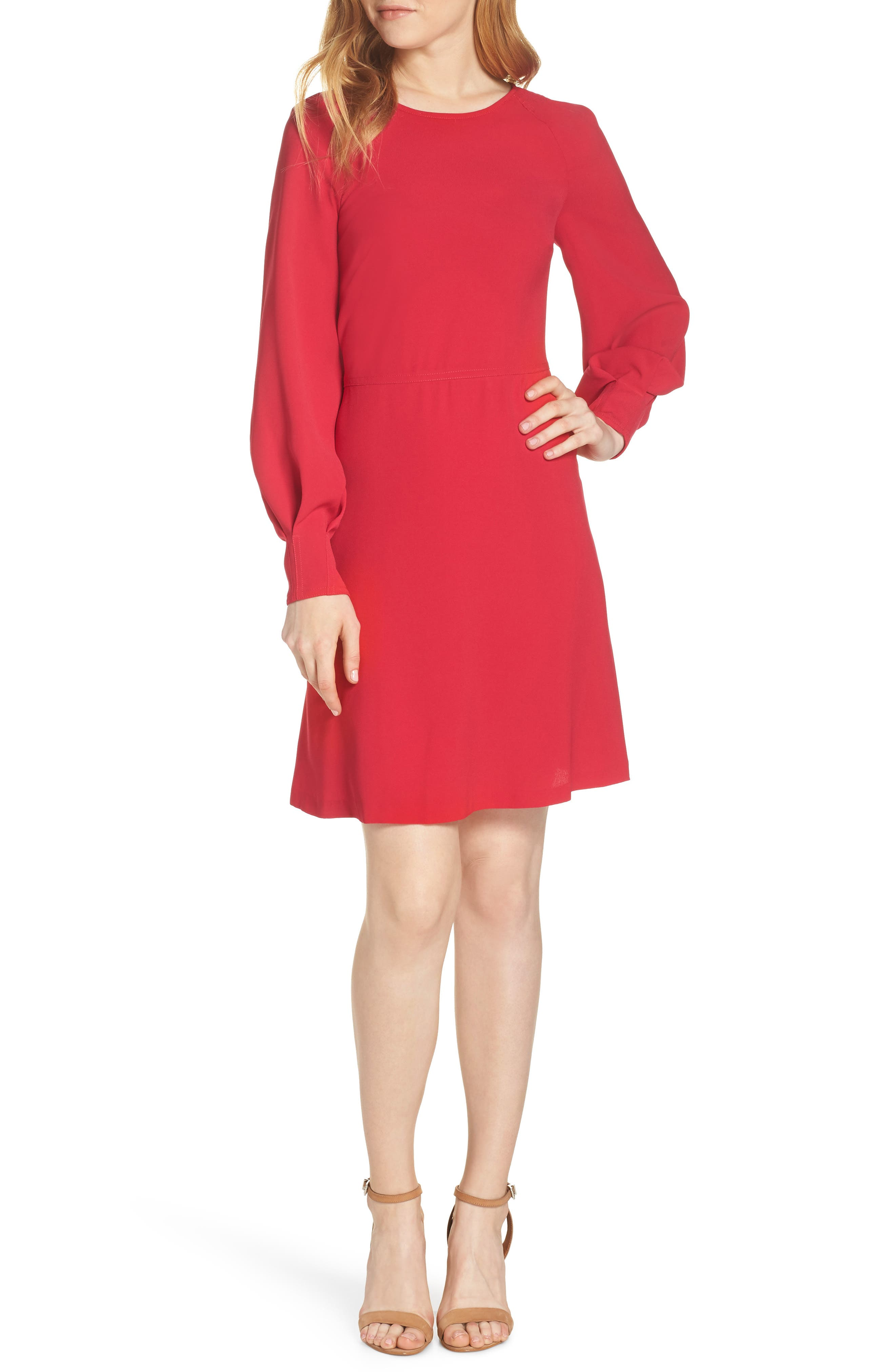 A-Line Dress, Main, color, PINK