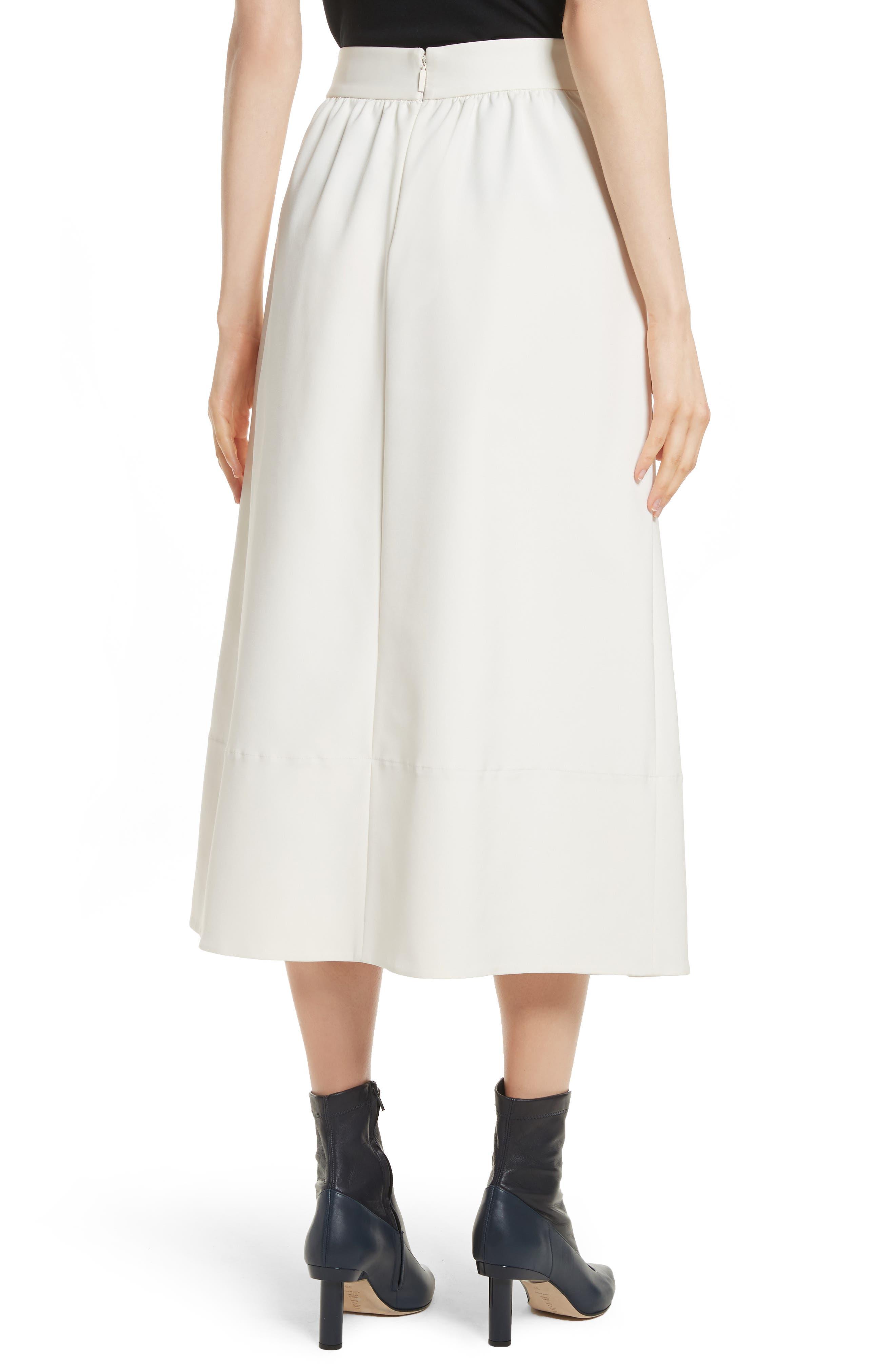 Stretch Faille Full Midi Skirt,                             Alternate thumbnail 2, color,                             904