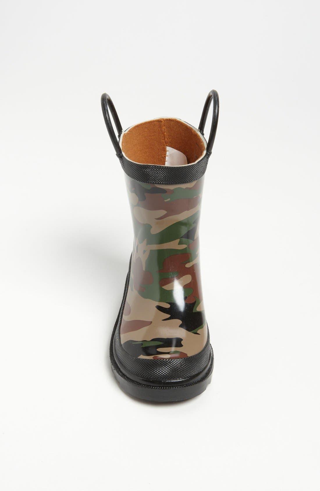Camo Waterproof Rain Boot,                             Alternate thumbnail 4, color,                             CAMO