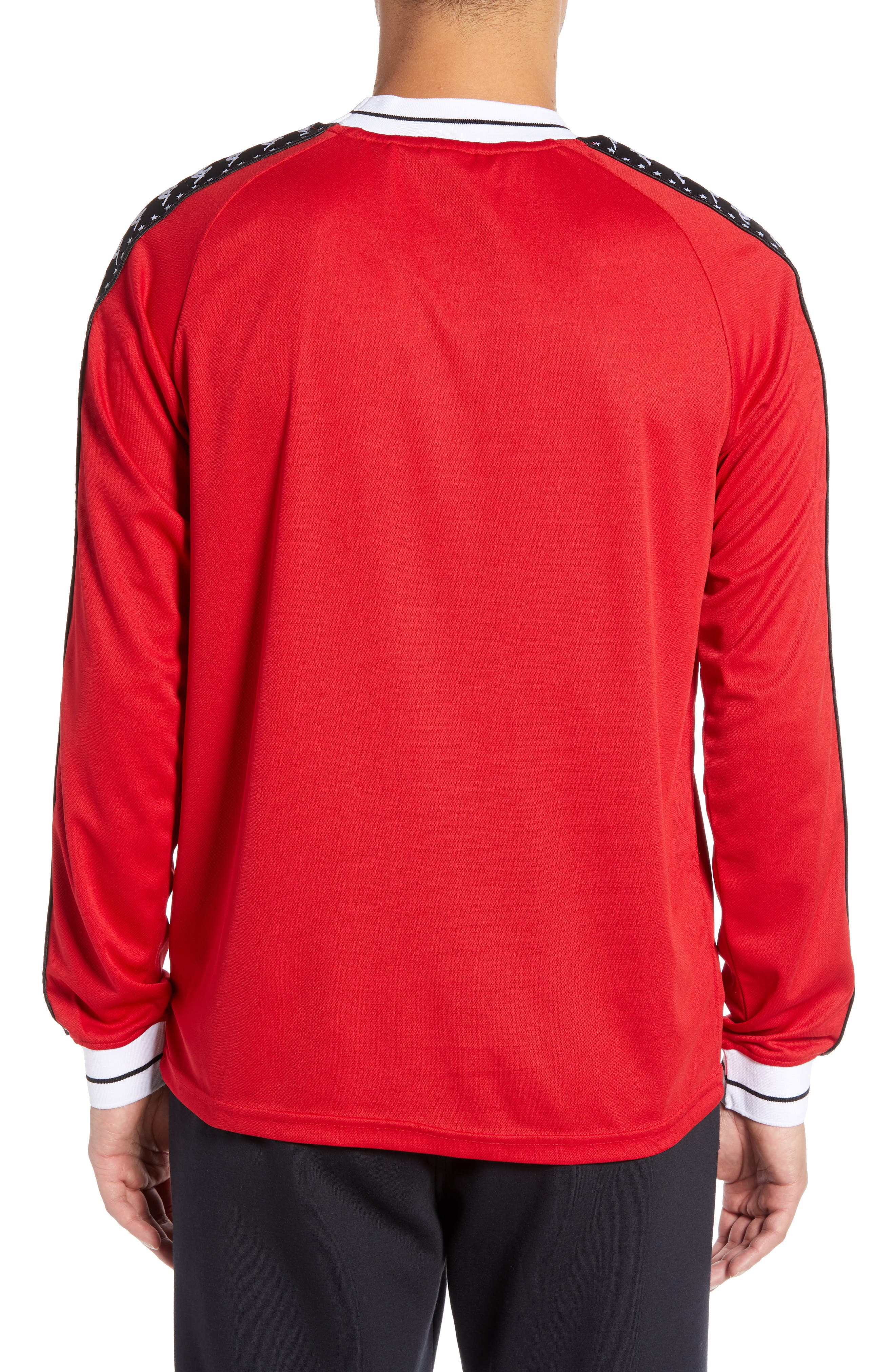 Authentic Aneat Logo Taped Long Sleeve T-Shirt,                             Alternate thumbnail 2, color,                             RED/ BLACK/ WHITE