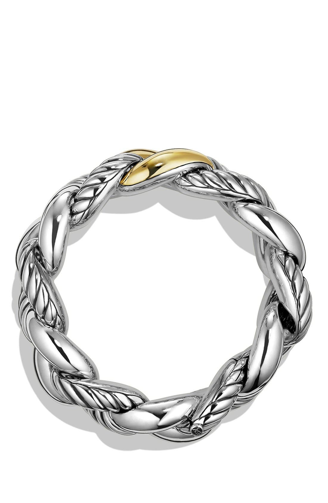 'Belmont' Curb Link Bracelet with 18K Gold,                             Alternate thumbnail 2, color,                             TWO TONE