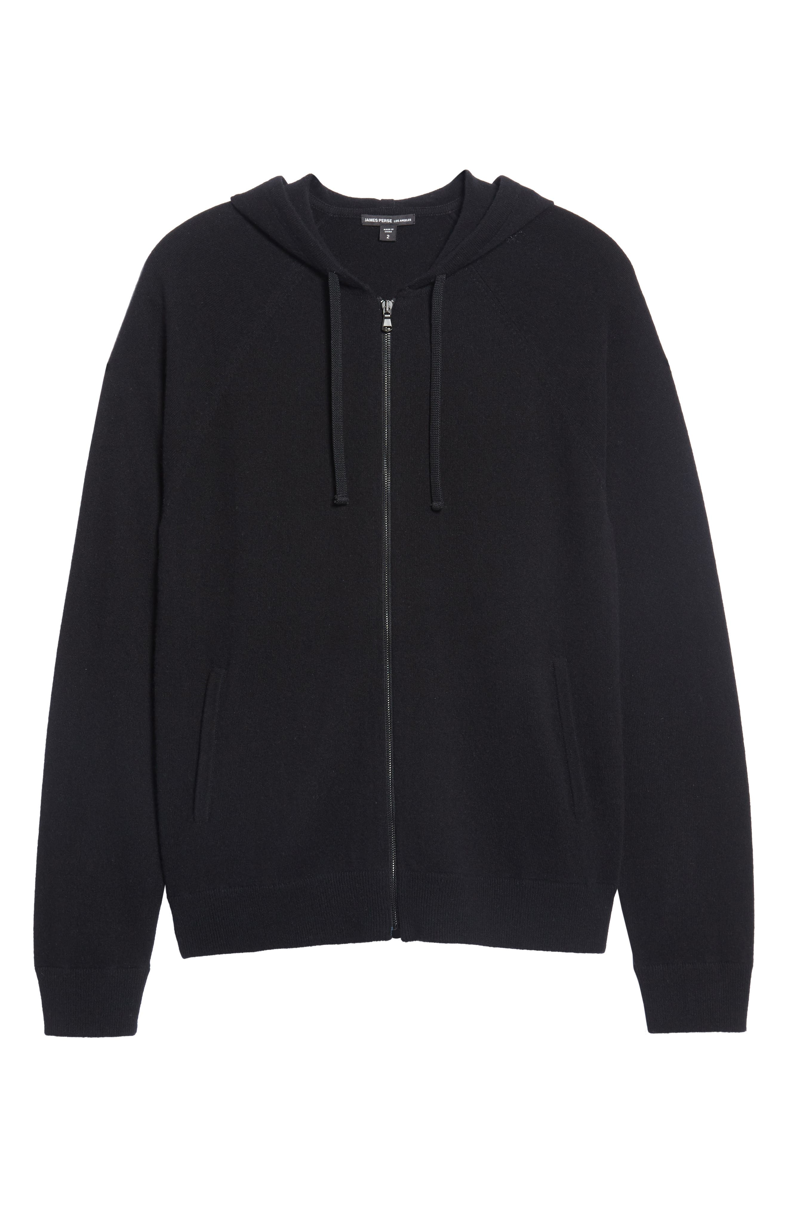 Classic Fit Cashmere Hooded Track Jacket,                             Alternate thumbnail 11, color,