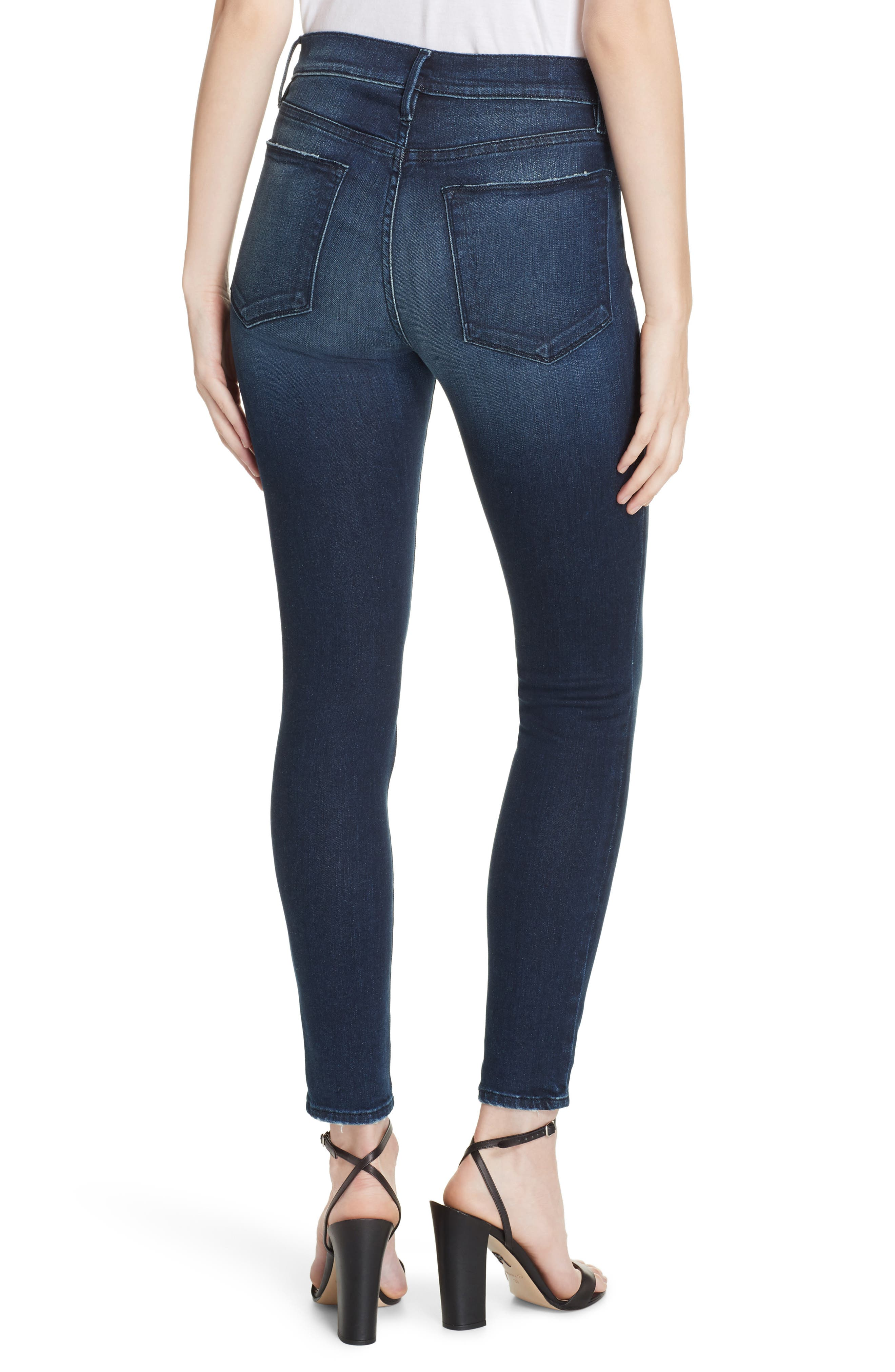 Le High Distressed Skinny Jeans,                             Alternate thumbnail 2, color,                             SWANK