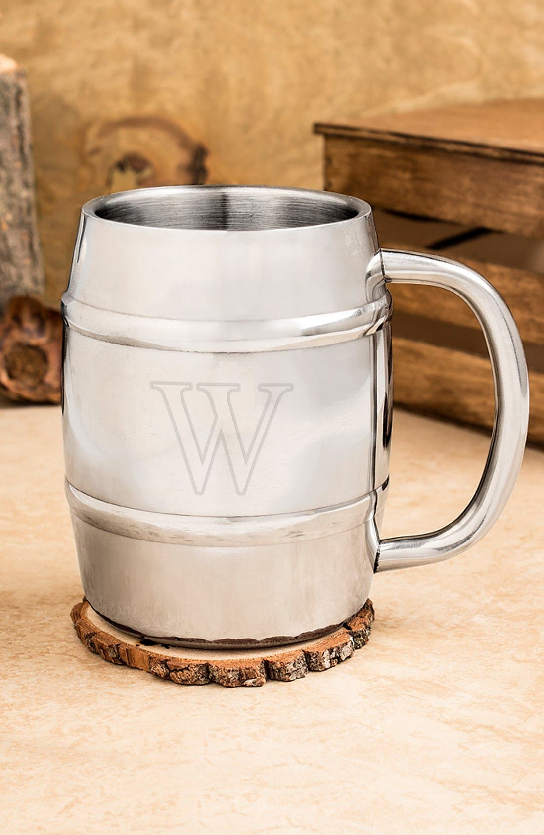 Monogram Stainless Steel Keg Mug,                             Main thumbnail 24, color,
