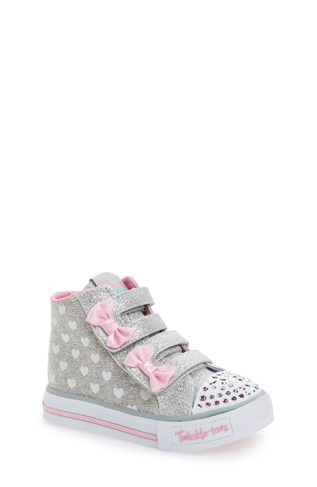 'Twinkle Toes - Shuffles' High Top Sneaker,                         Main,                         color, 596