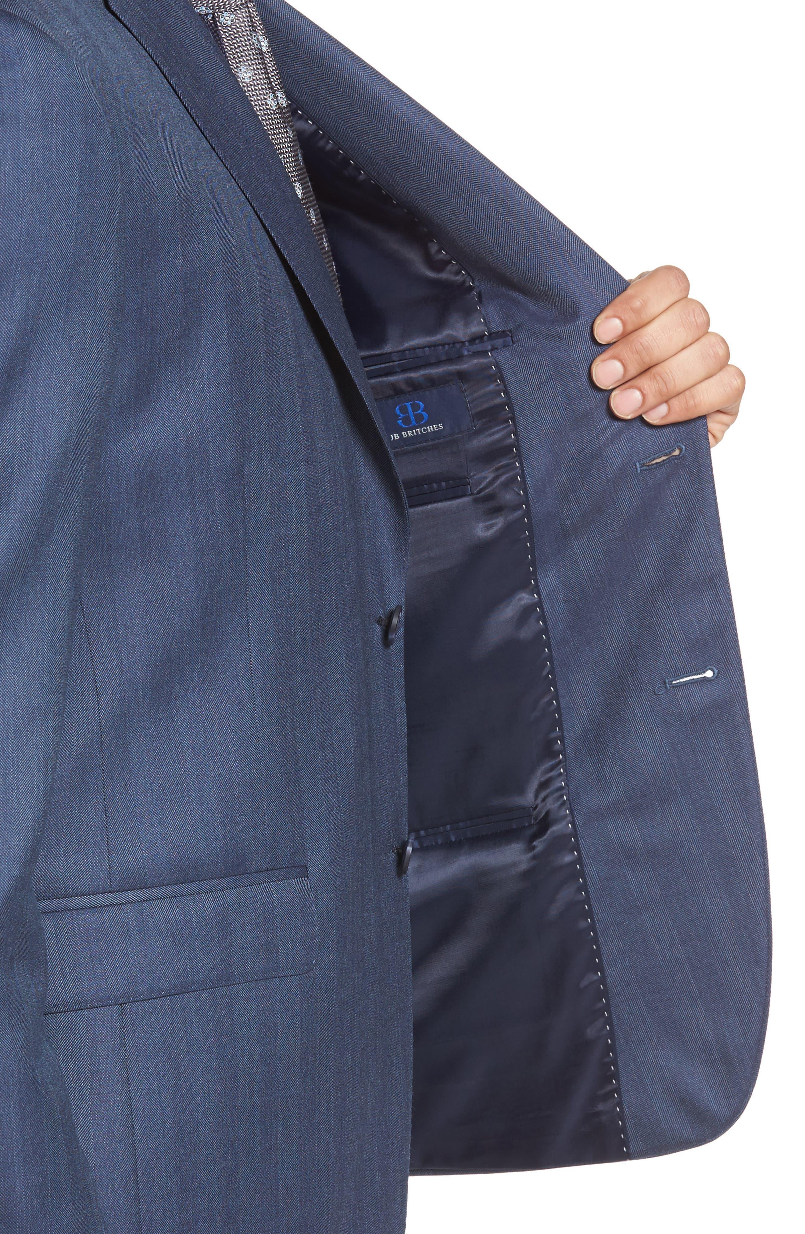 Classic Fit Herringbone Wool Sport Coat,                             Alternate thumbnail 4, color,                             422