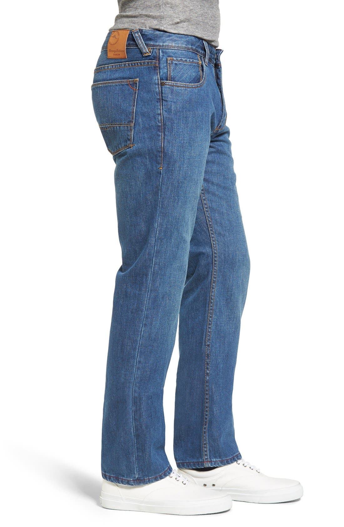 Santorini Straight Leg Jeans,                             Alternate thumbnail 3, color,                             401