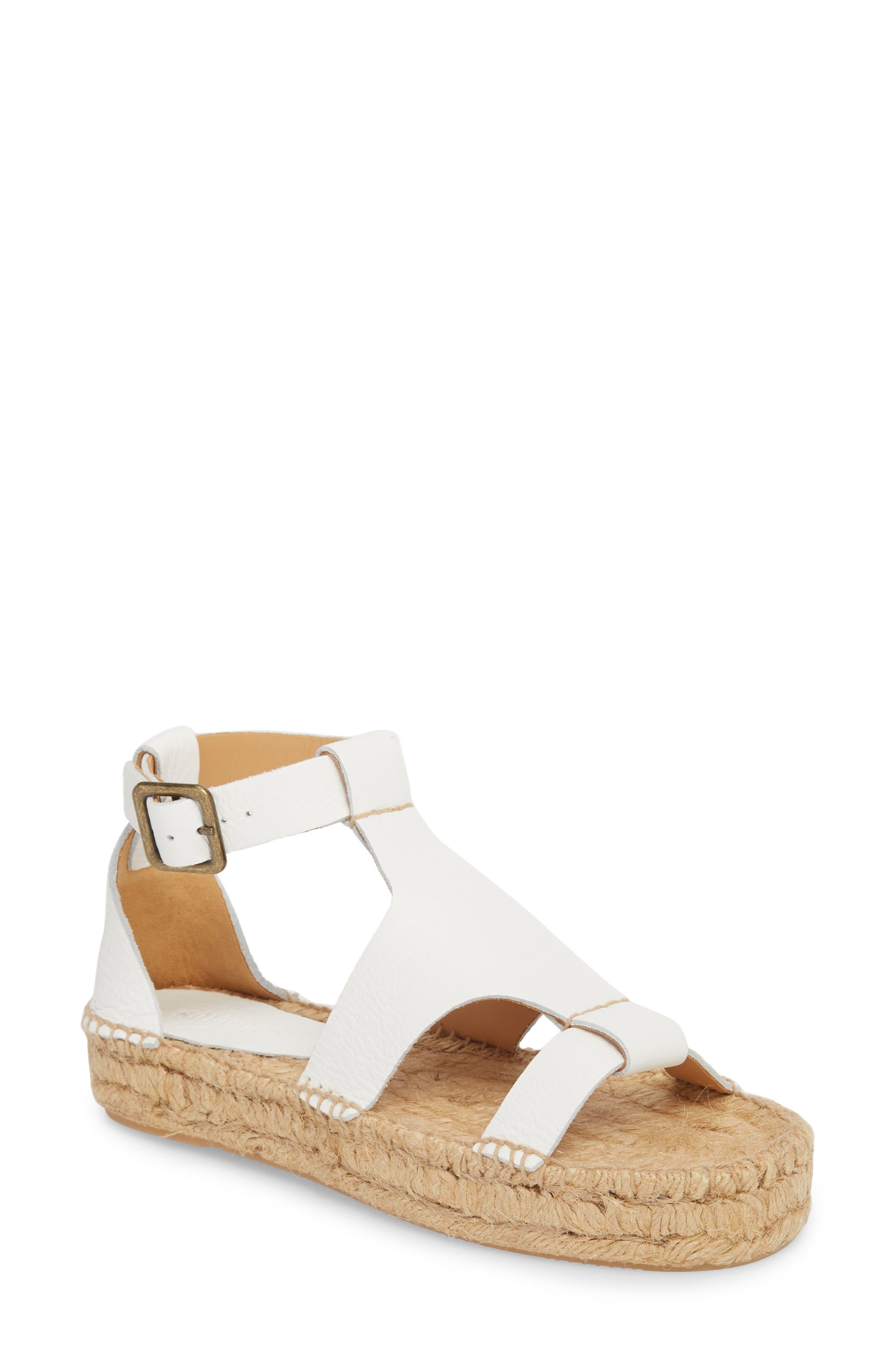 Espadrille Platform Sandal,                         Main,                         color, 100