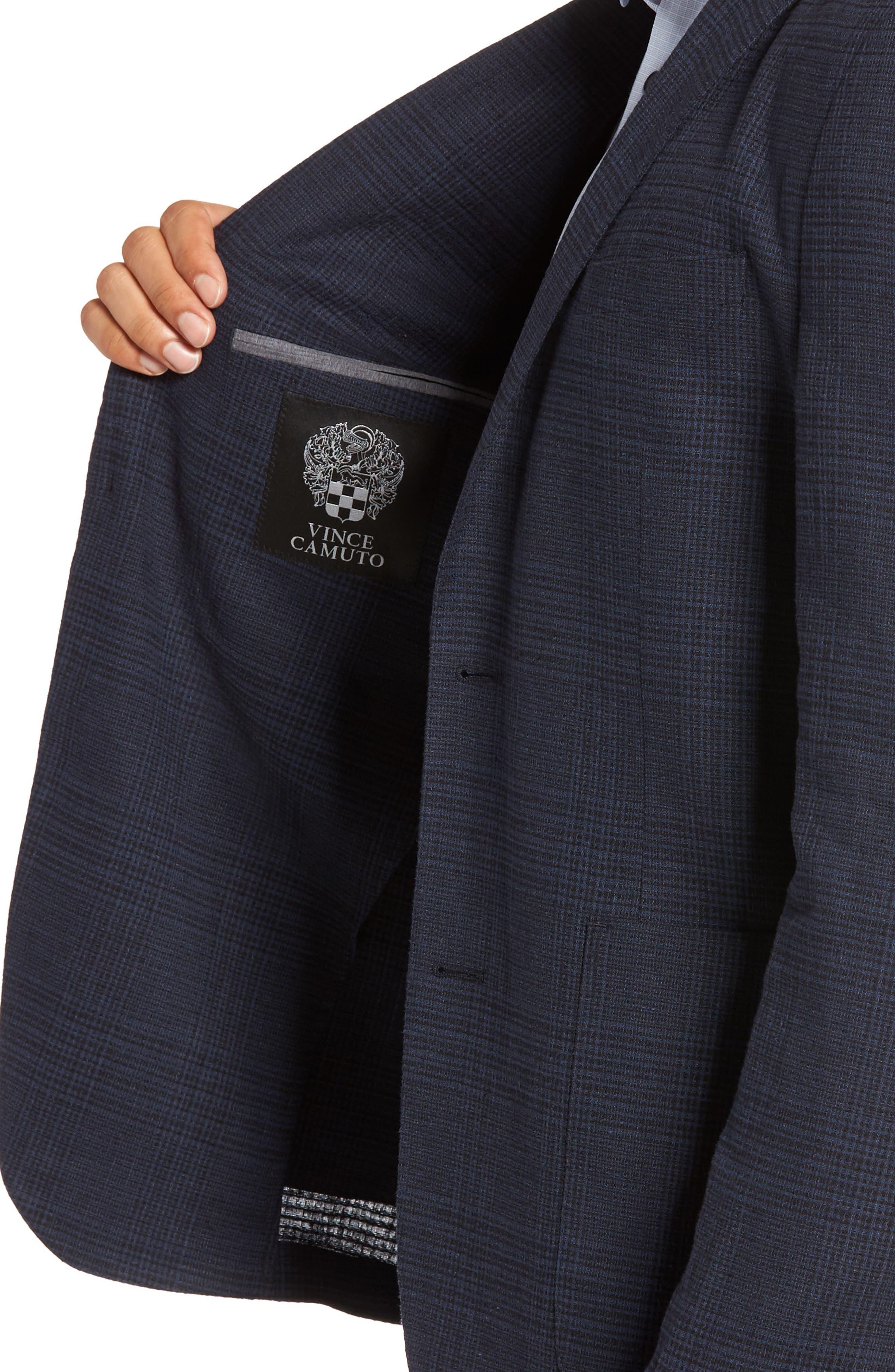 Delaria Plaid Wool Blend Jacket,                             Alternate thumbnail 8, color,