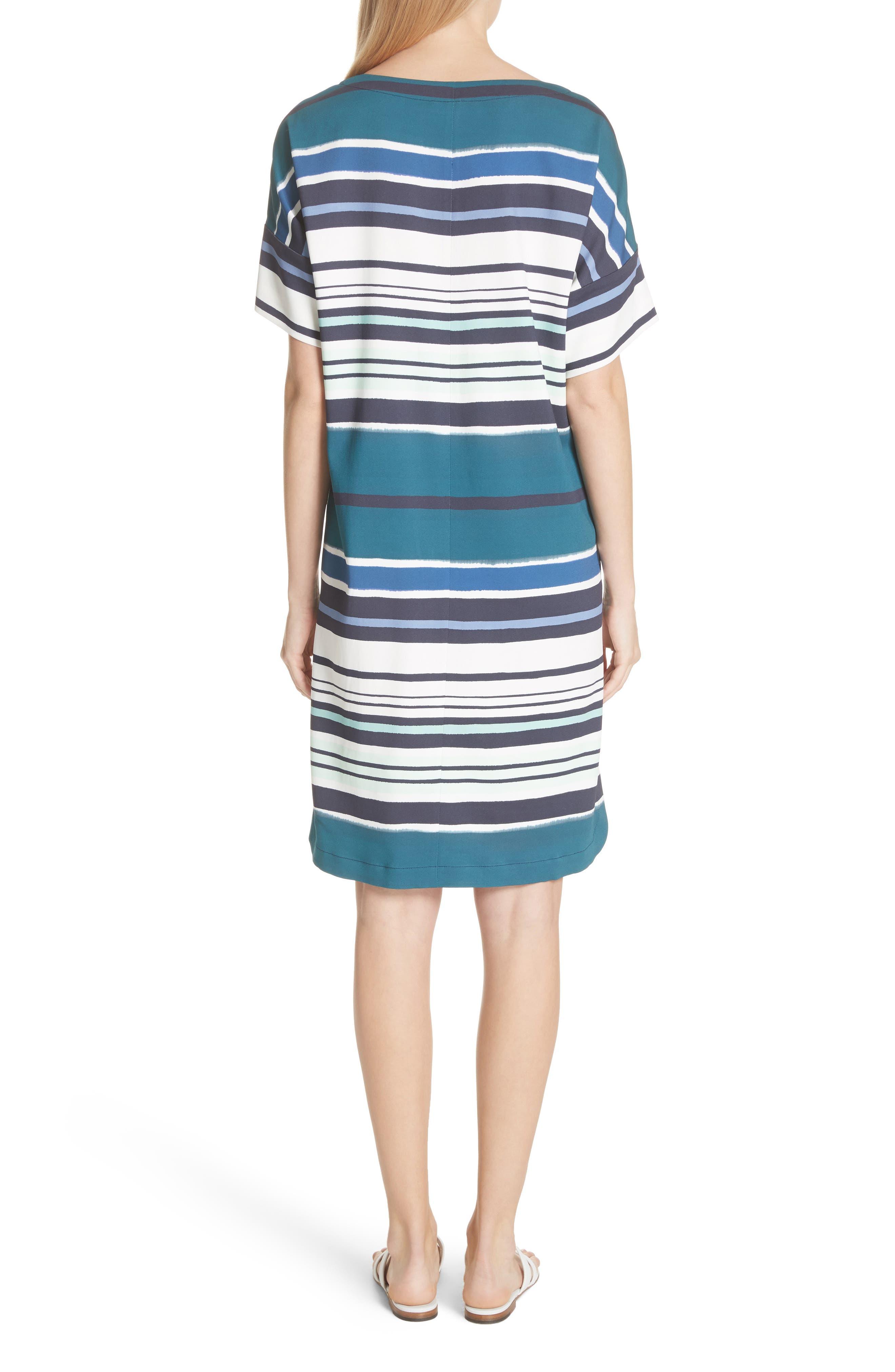 Lydia Stripe Dress,                             Alternate thumbnail 2, color,                             438