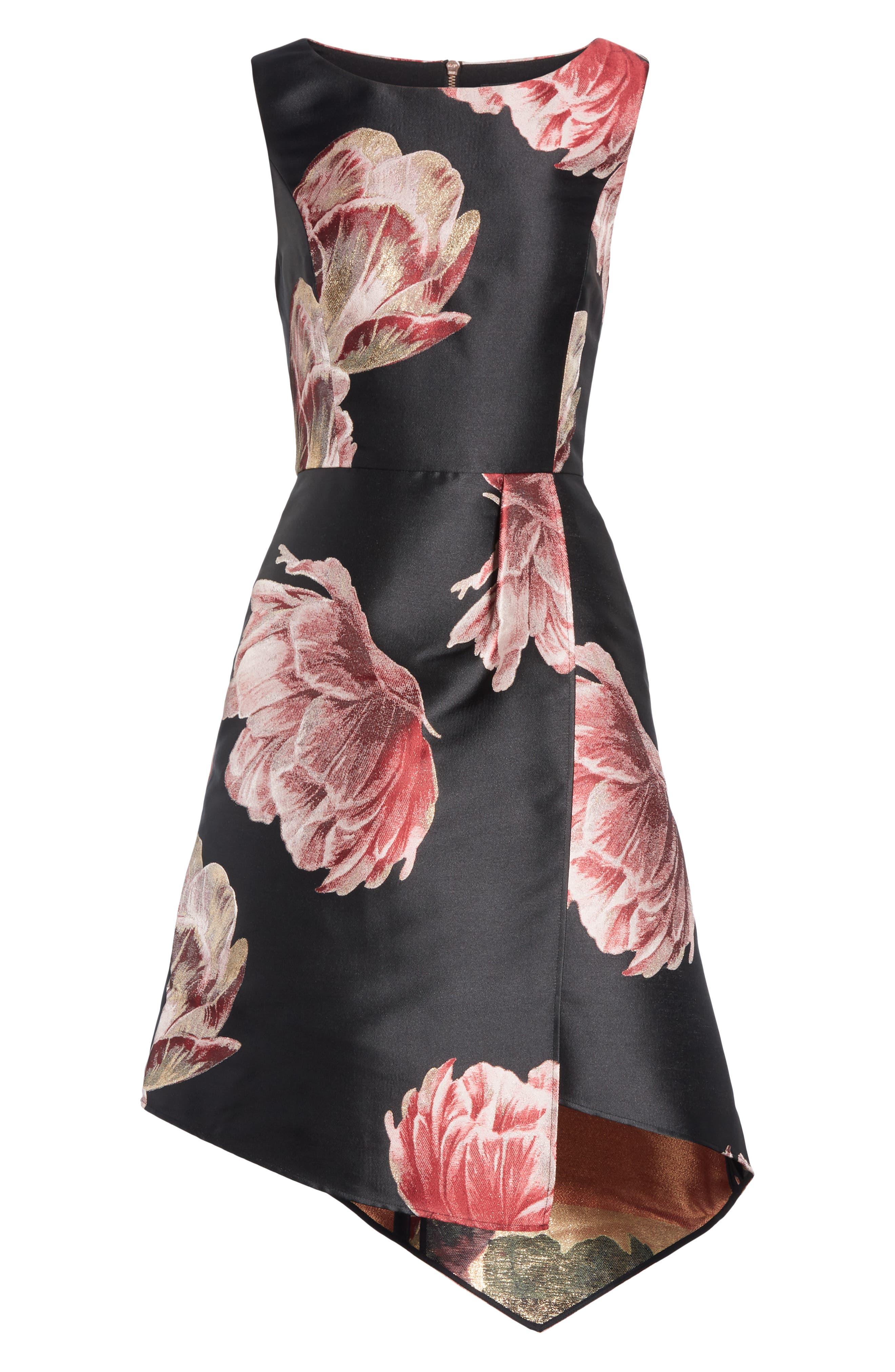 Eyvii Bay of Honour Asymmetrical Dress,                             Alternate thumbnail 7, color,                             001