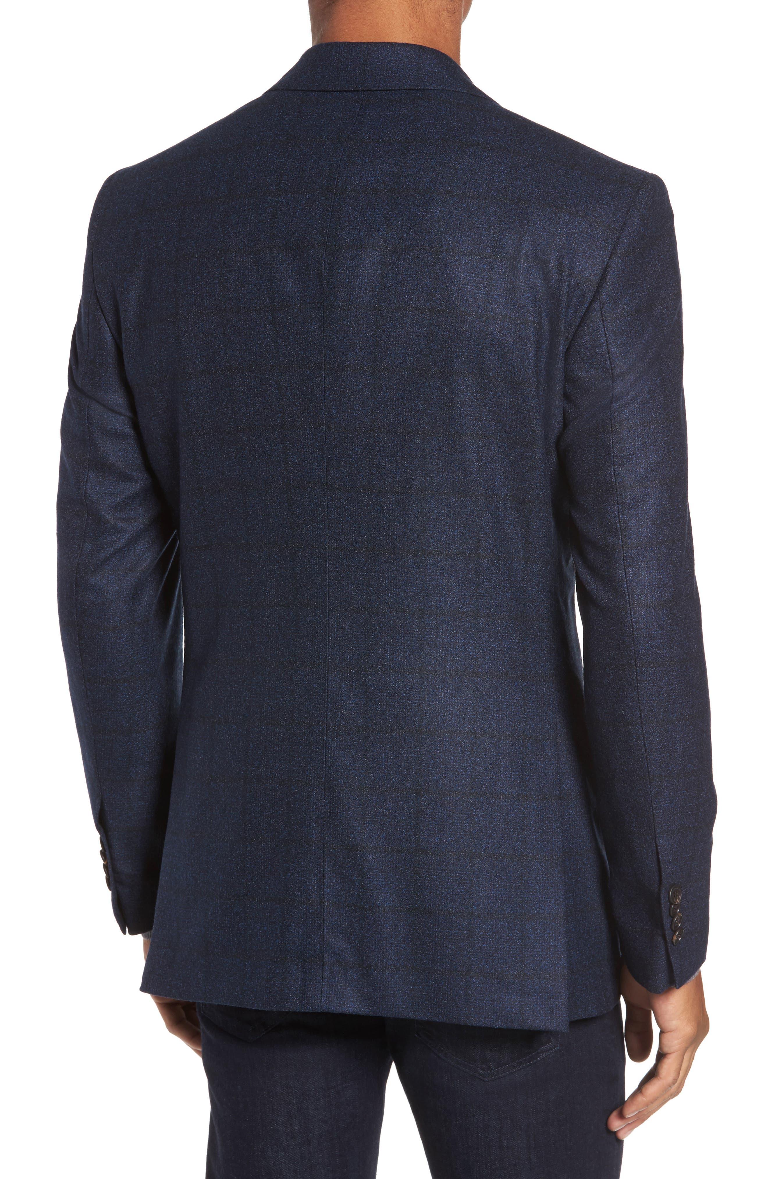 Andersen Trim Fit Plaid Wool Sport Coat,                             Alternate thumbnail 2, color,                             209