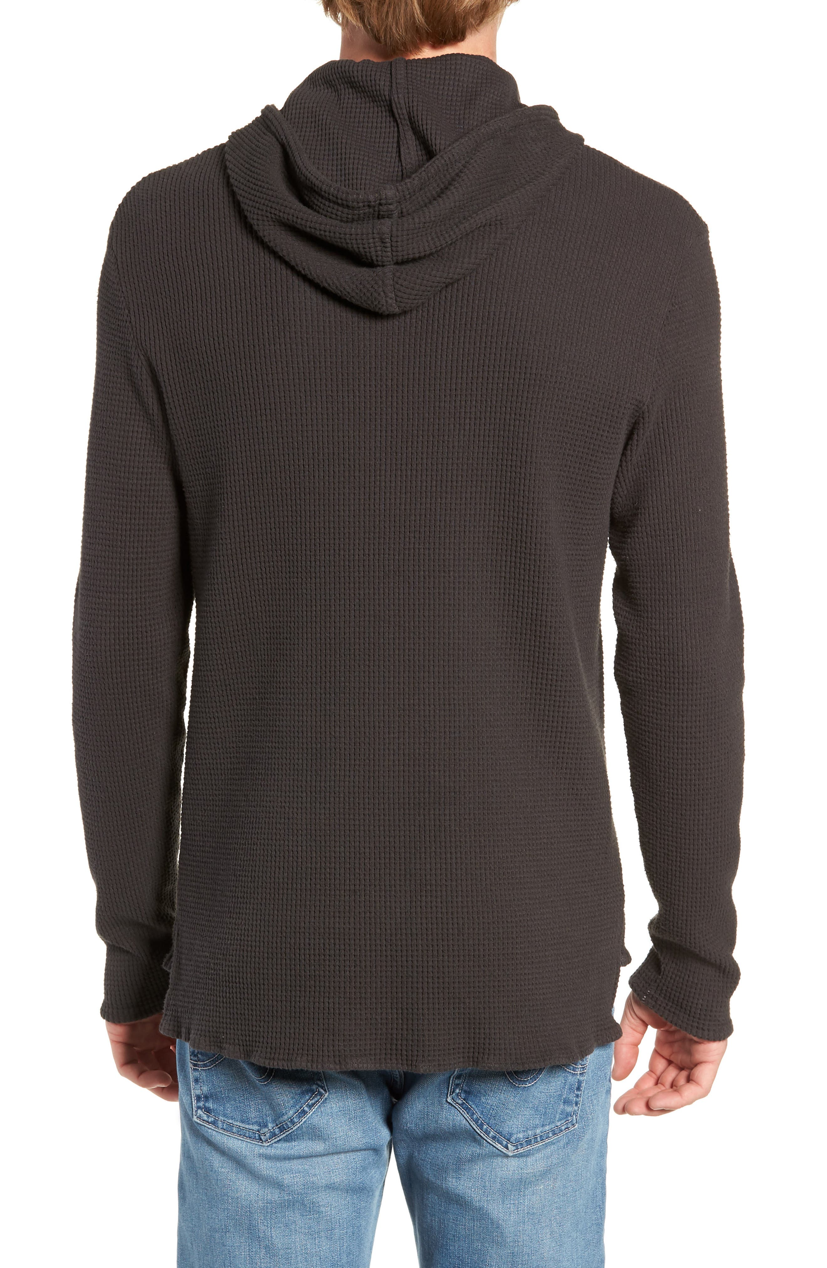 Thermal Knit Pullover Hoodie,                             Alternate thumbnail 2, color,                             020