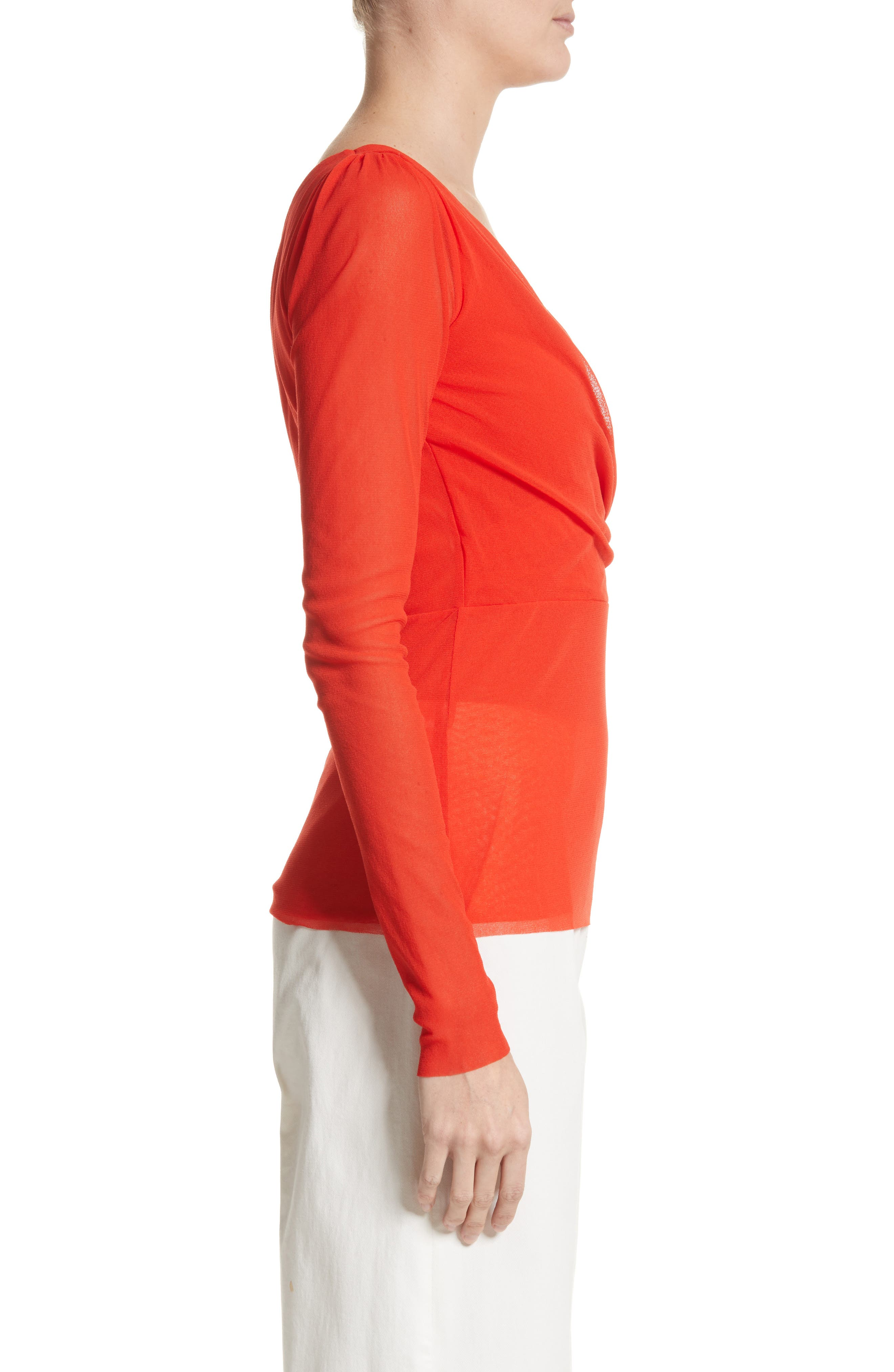 Surplice Neck Top,                             Alternate thumbnail 3, color,                             650