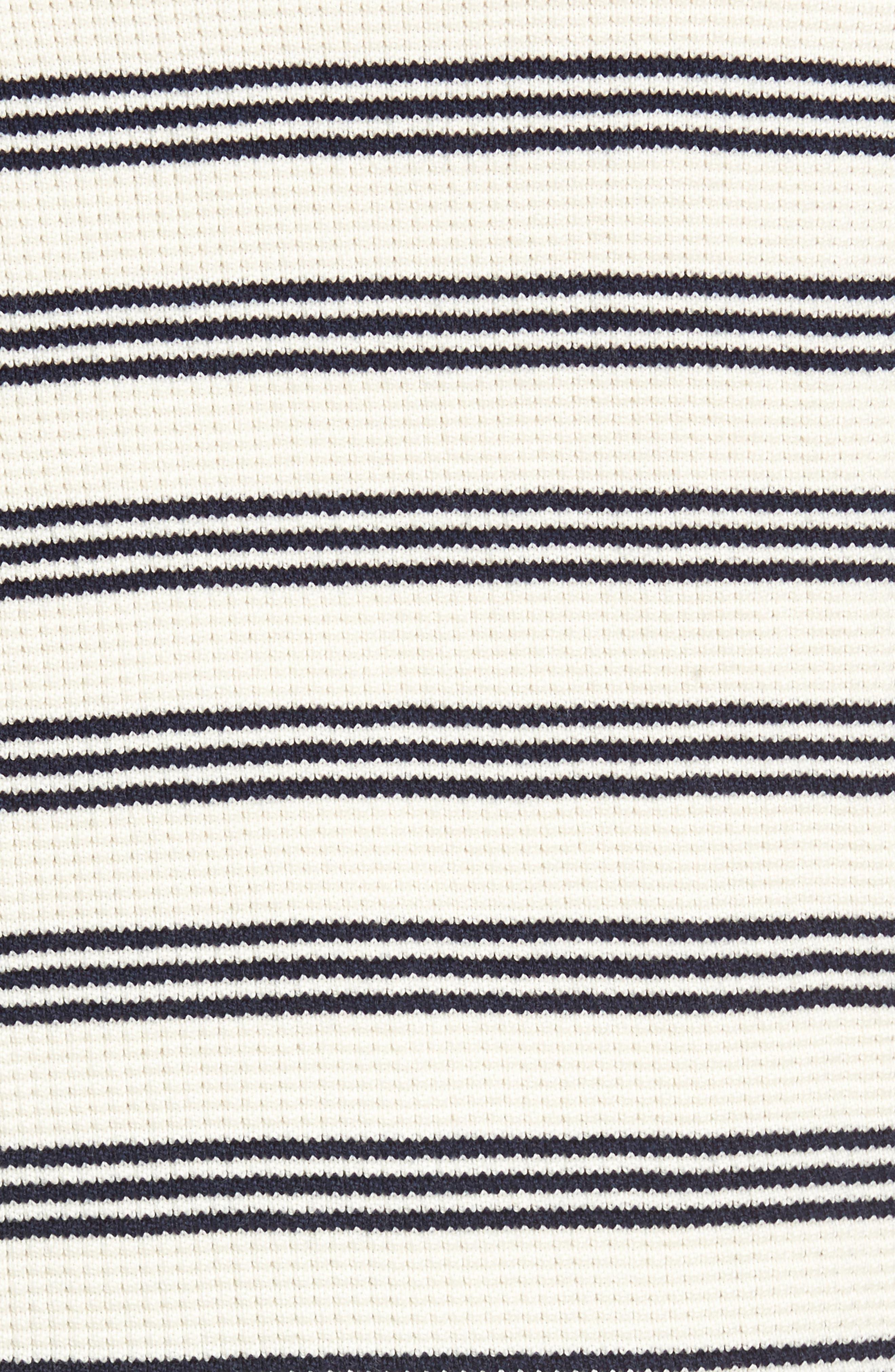 Waffle Stitch Stripe Sweater,                             Alternate thumbnail 5, color,                             028