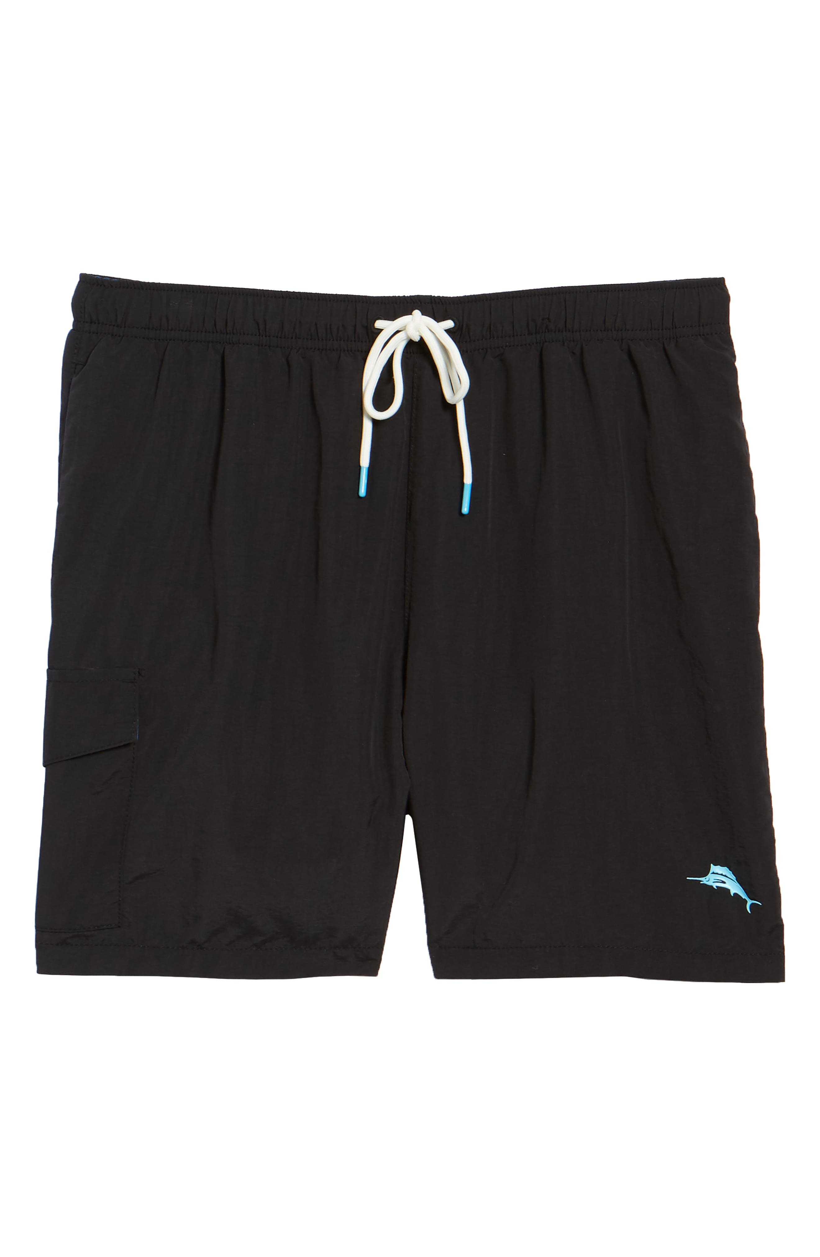 Naples Coast Swim Trunks,                             Alternate thumbnail 6, color,                             BLACK