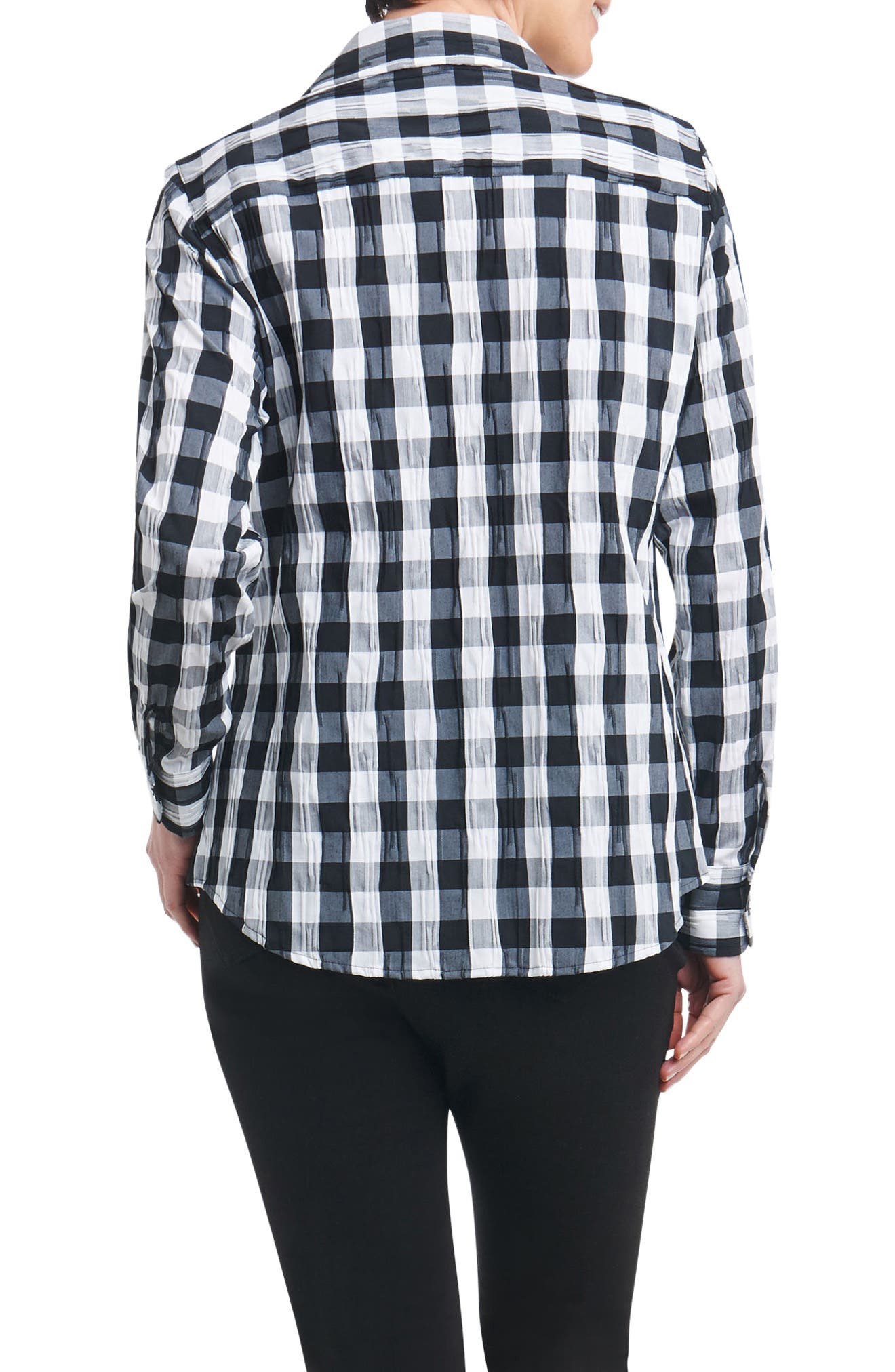 Mary Buffalo Check Crinkle Shirt,                             Alternate thumbnail 2, color,                             100