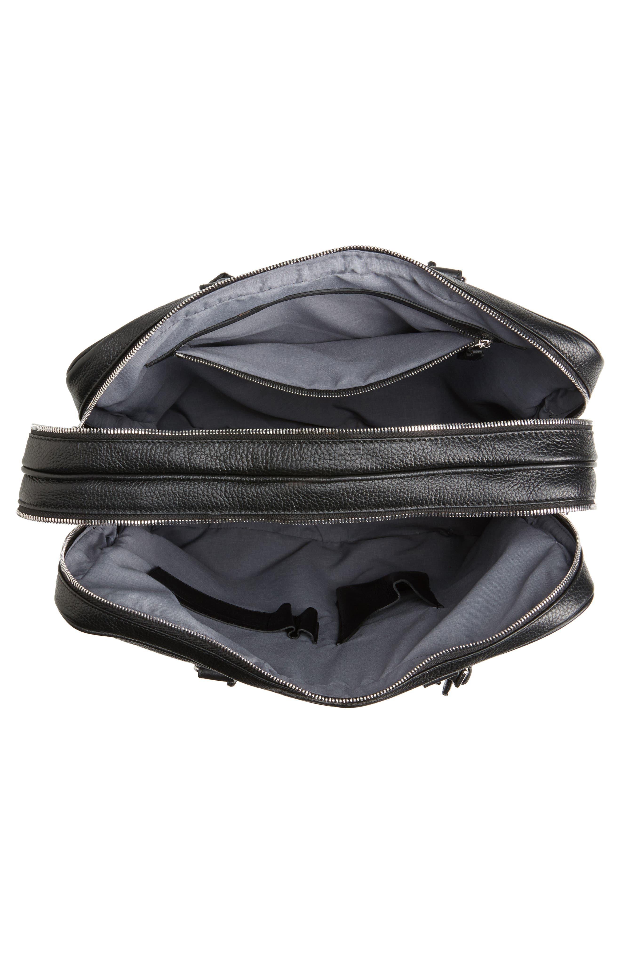 Leather Laptop Bag,                             Alternate thumbnail 7, color,