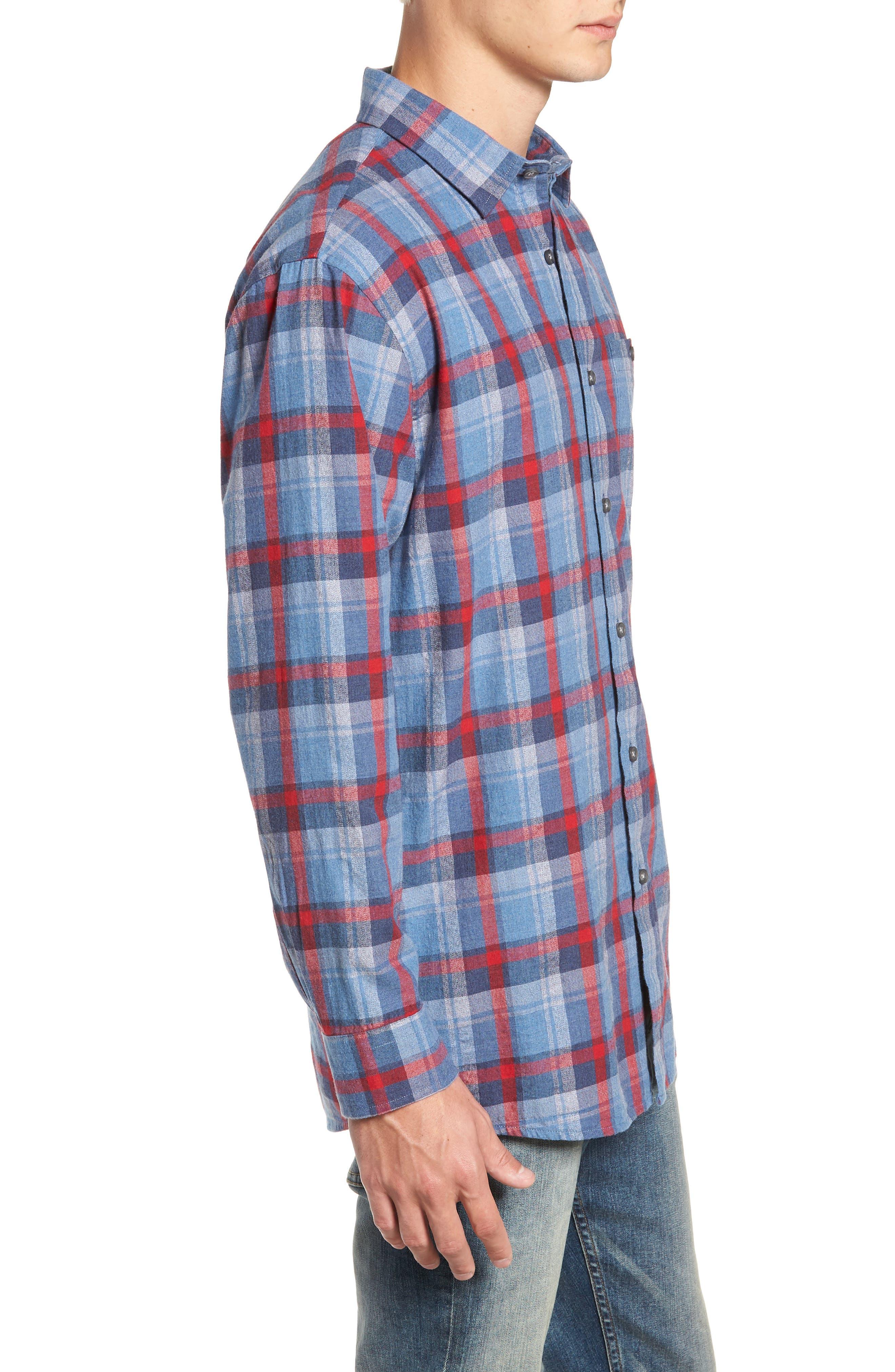 Jasper Plaid Flannel Shirt,                             Alternate thumbnail 4, color,                             410