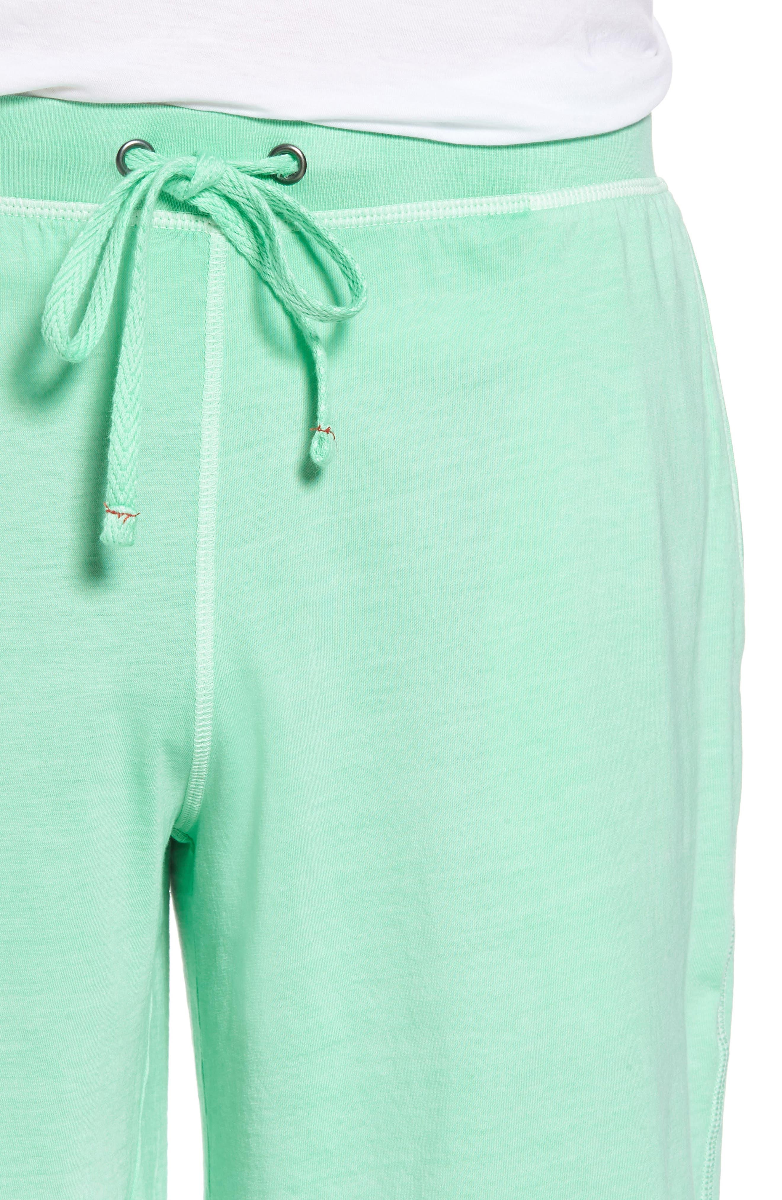 Peruvian Pima Cotton Lounge Shorts,                             Alternate thumbnail 4, color,                             LIME
