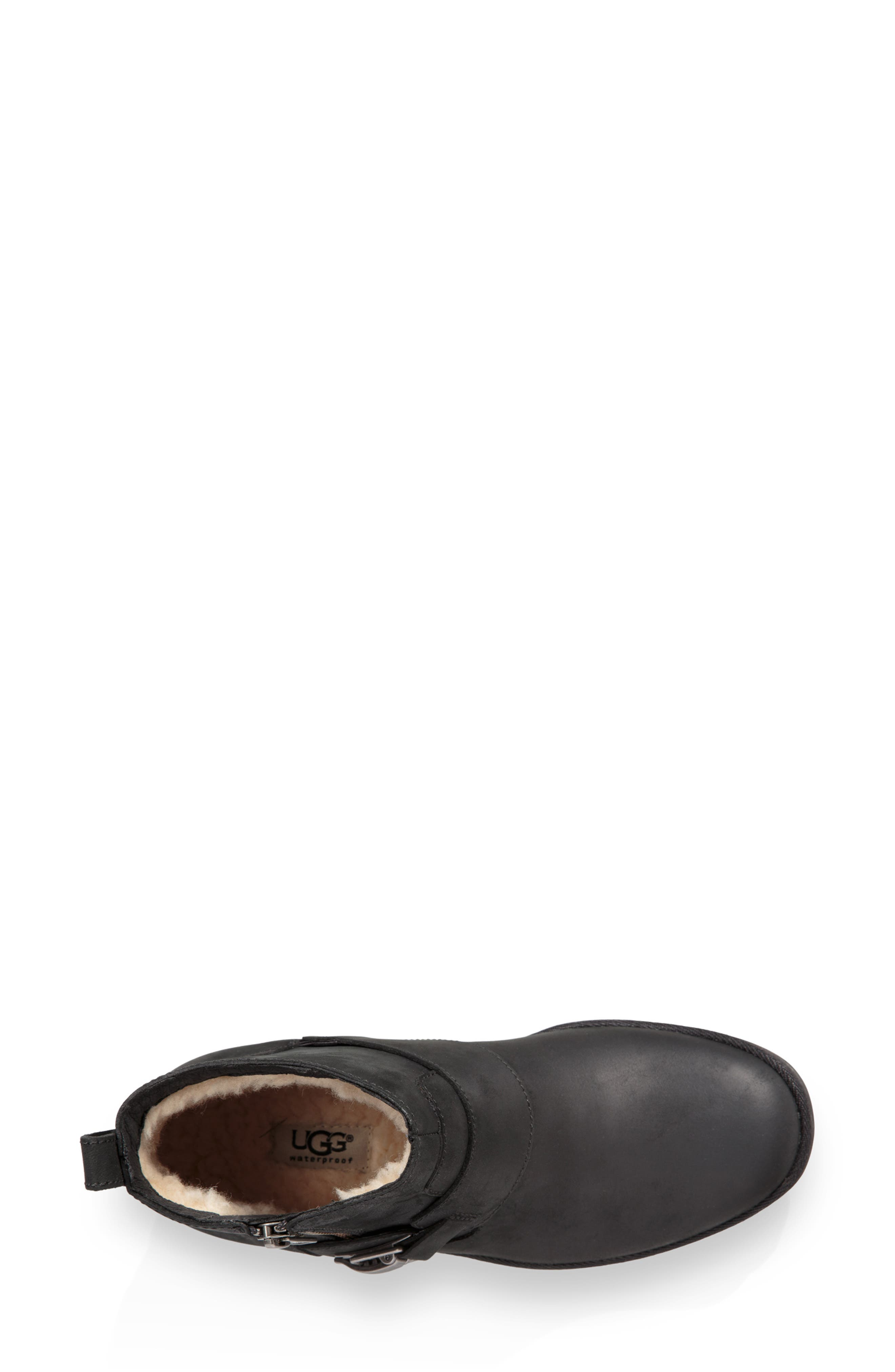 Cheyne Bootie,                             Alternate thumbnail 4, color,                             BLACK LEATHER