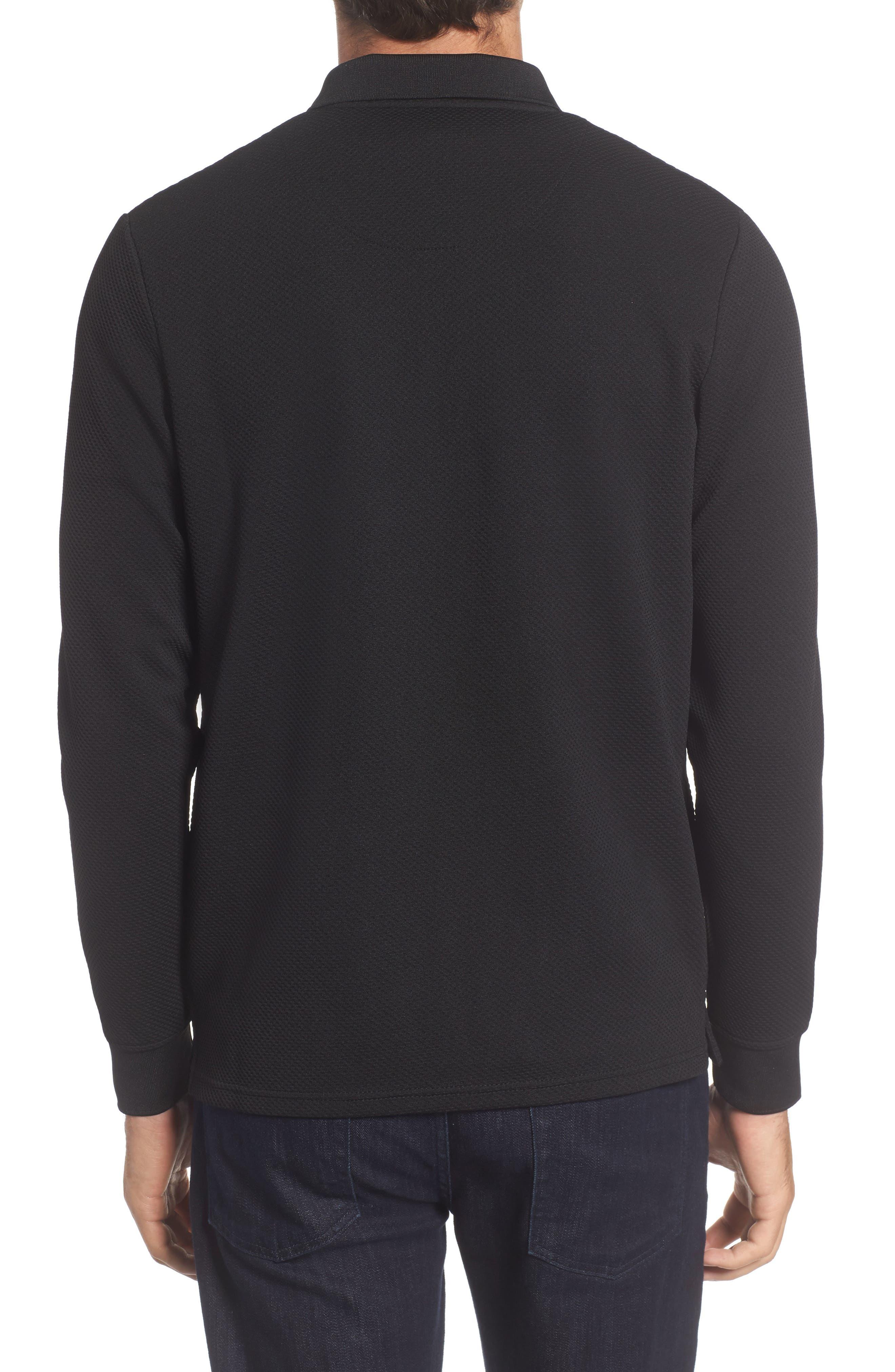 Long Sleeve Zip Polo,                             Alternate thumbnail 2, color,                             019