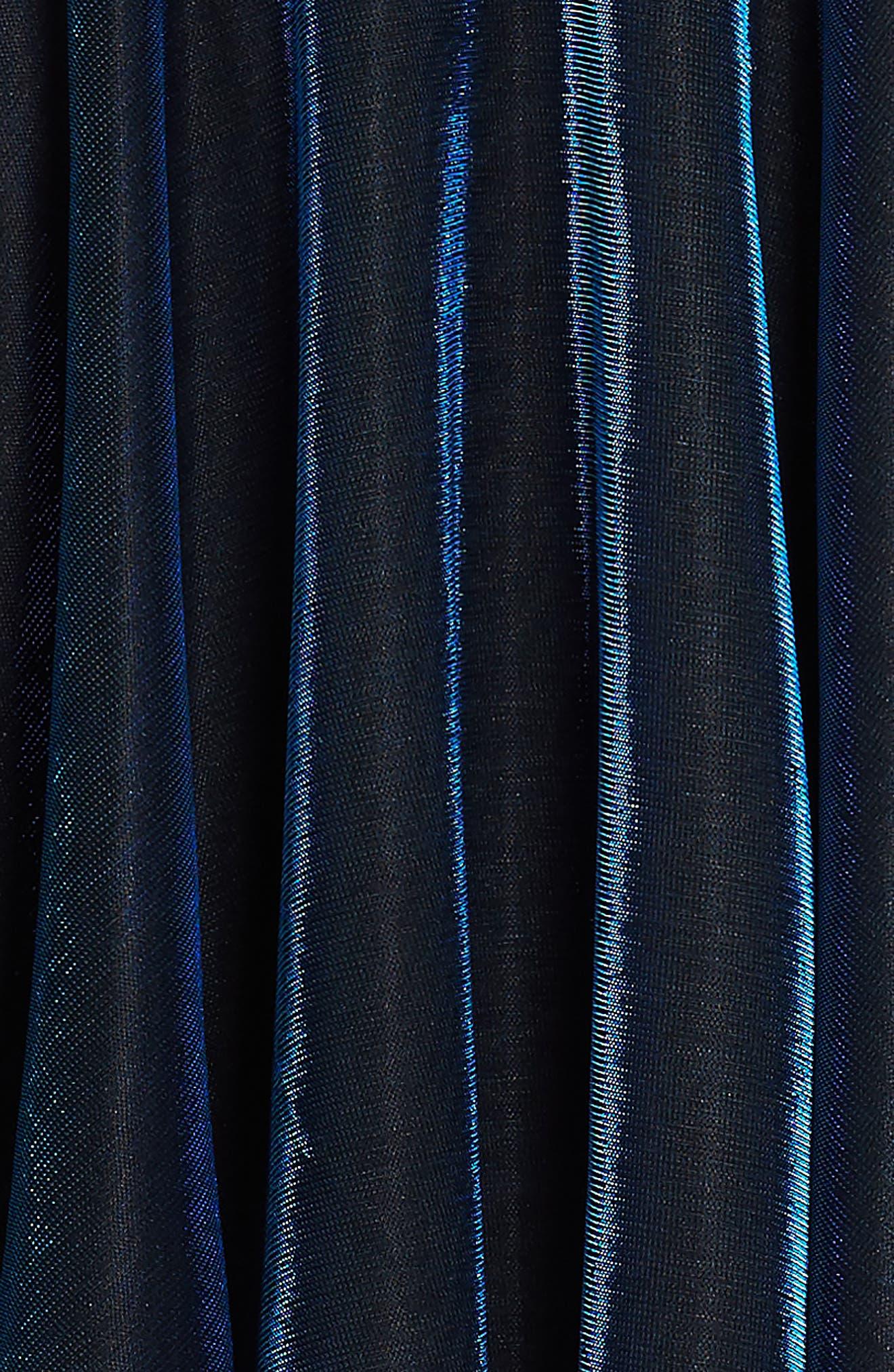 Iridescent Techno Skater Dress,                             Alternate thumbnail 3, color,                             420