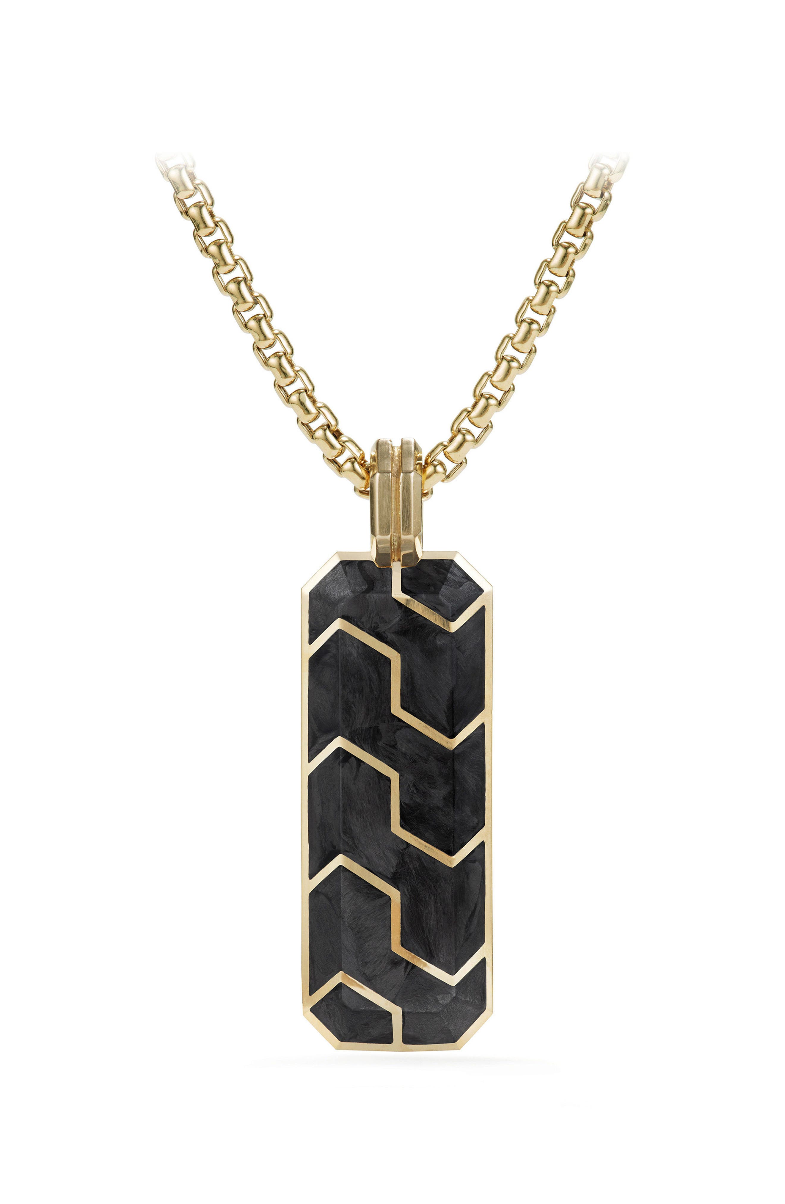 Davdi Yurman Forged Carbon Ingot Tag with 18K Gold,                         Main,                         color, 020