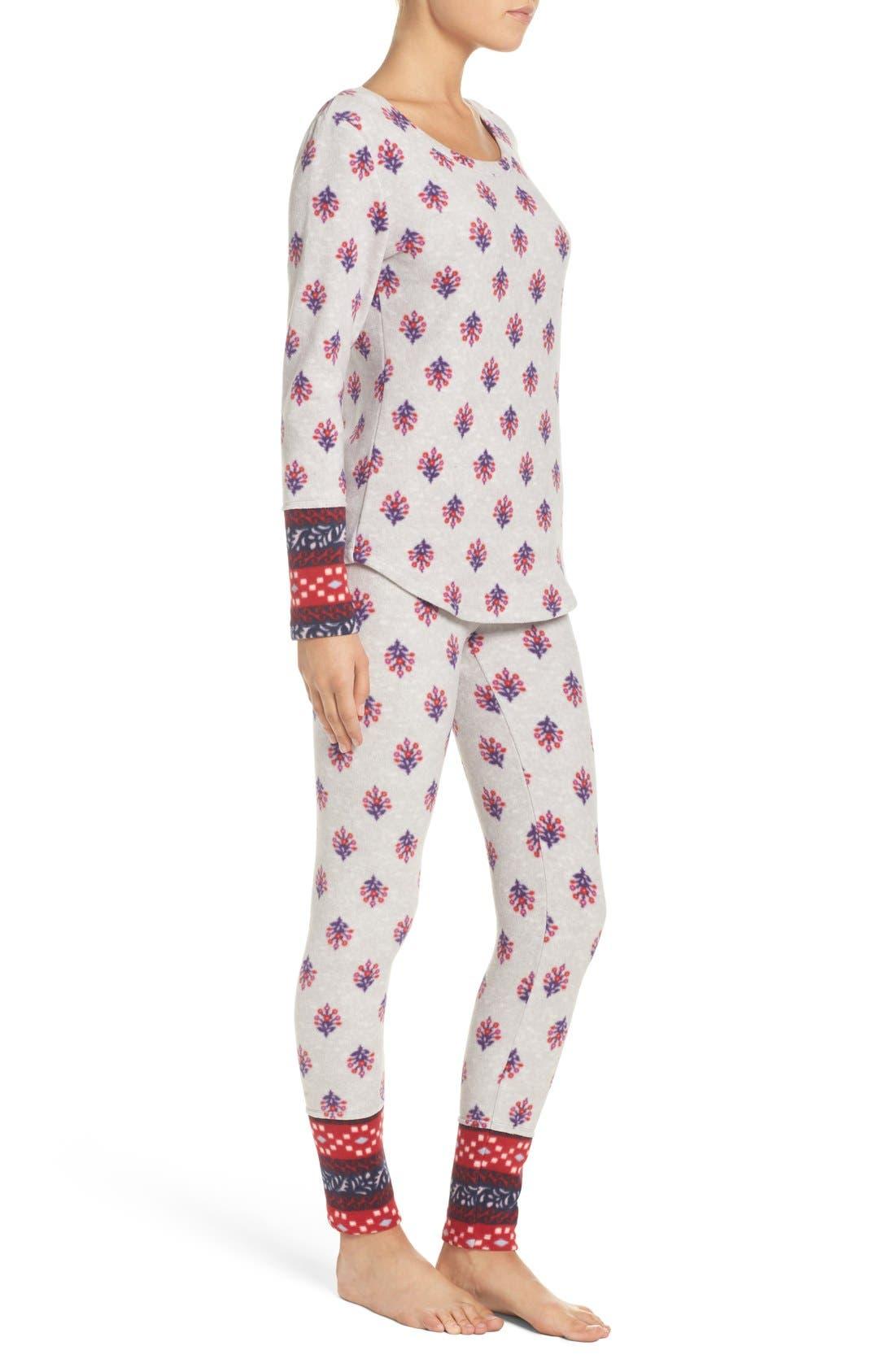 Print Fleece Pajamas,                             Alternate thumbnail 2, color,                             040
