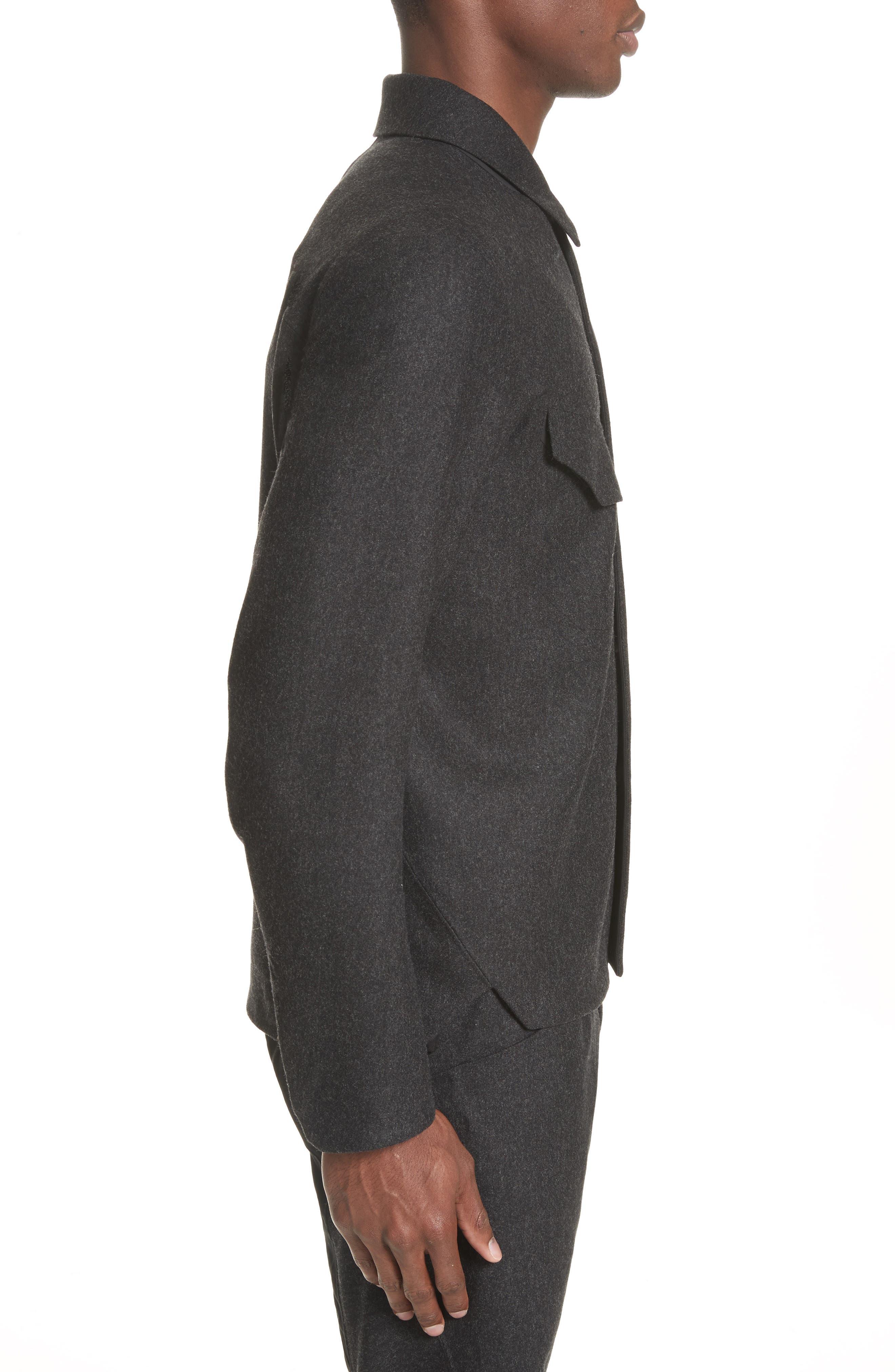 Haedn Shirt Jacket,                             Alternate thumbnail 4, color,                             001