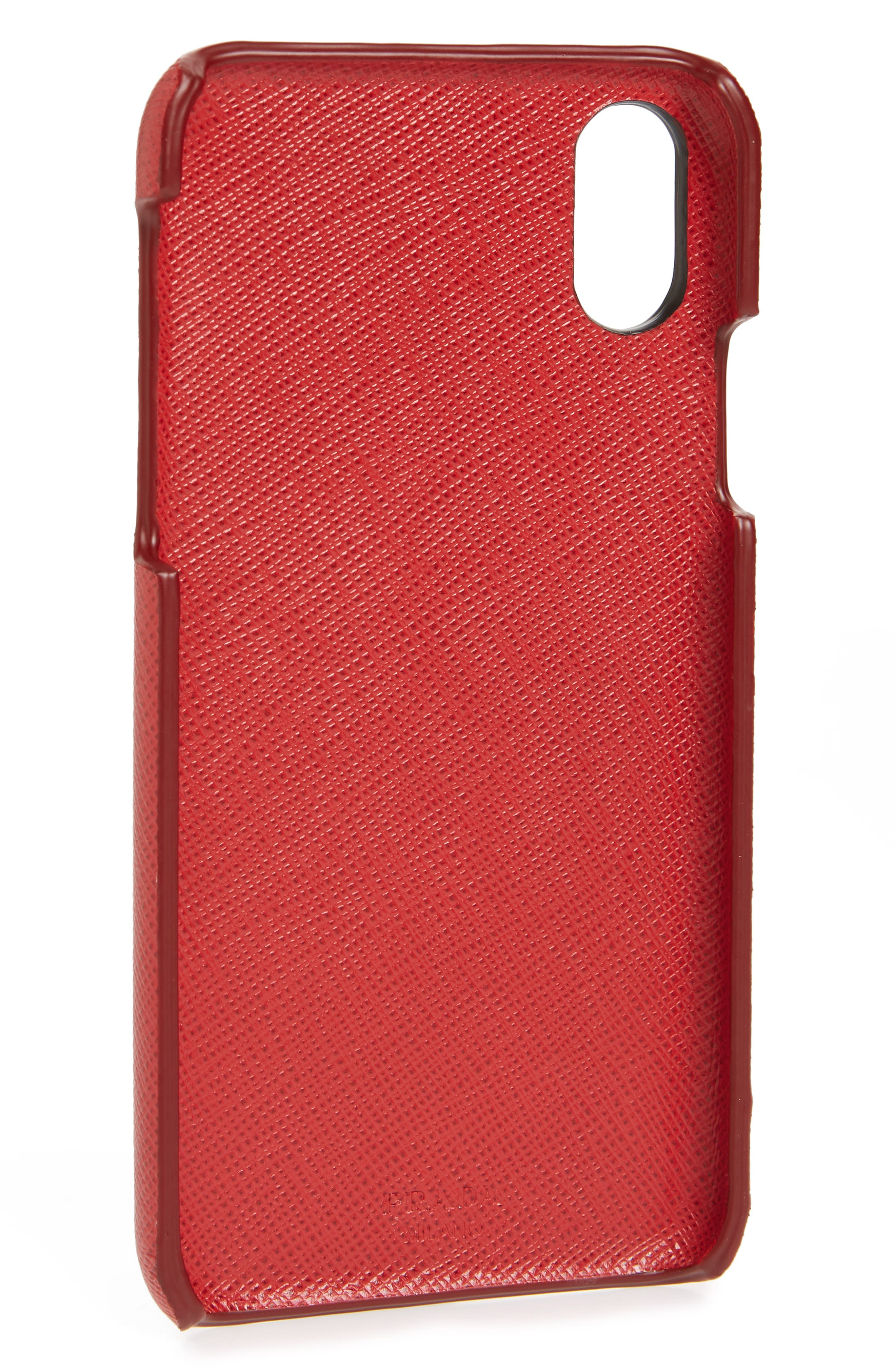 Saffiano Leather iPhone X Case,                             Alternate thumbnail 2, color,                             625