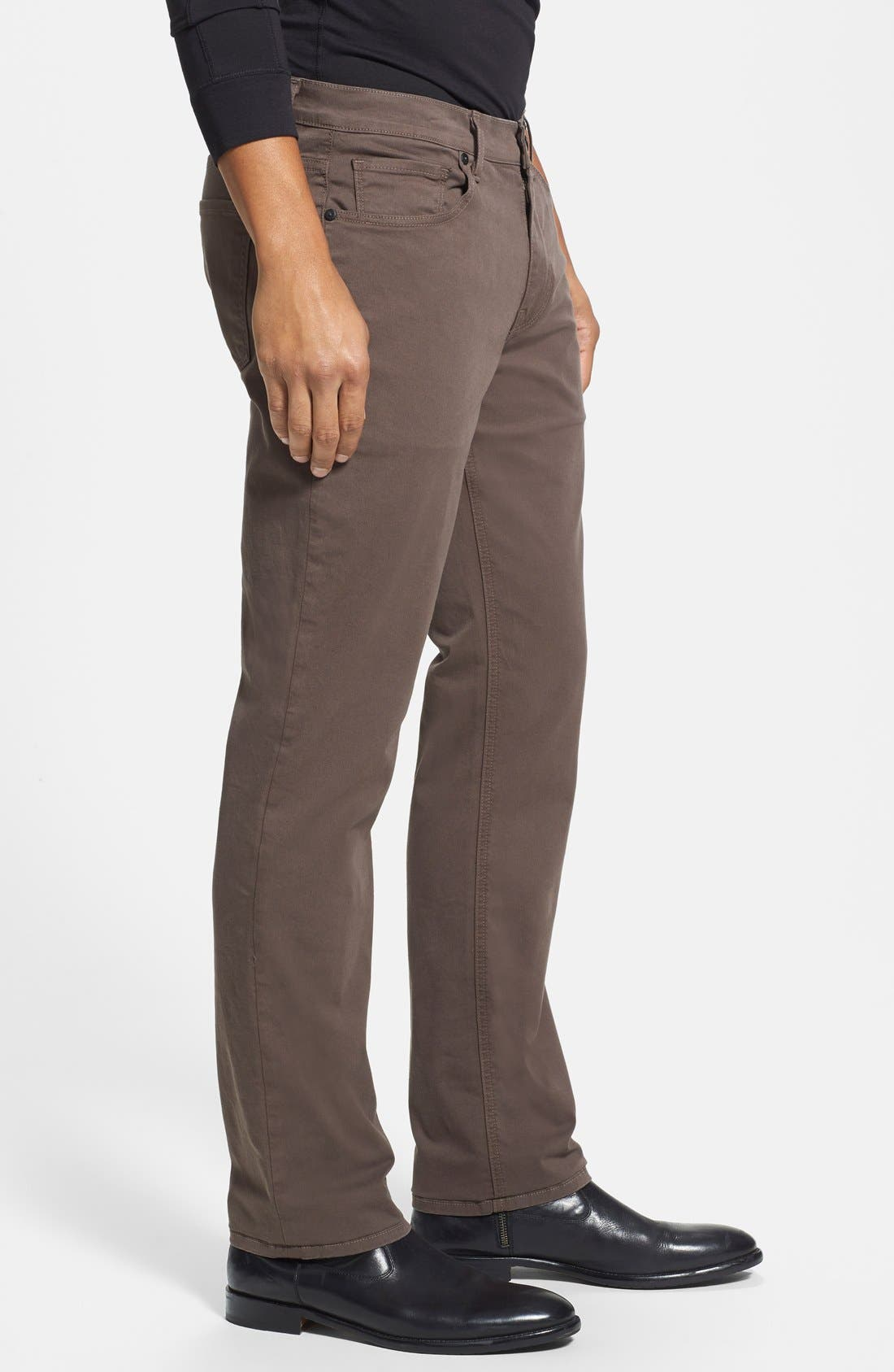 Normandie Slim Straight Leg Twill Pants,                             Alternate thumbnail 11, color,
