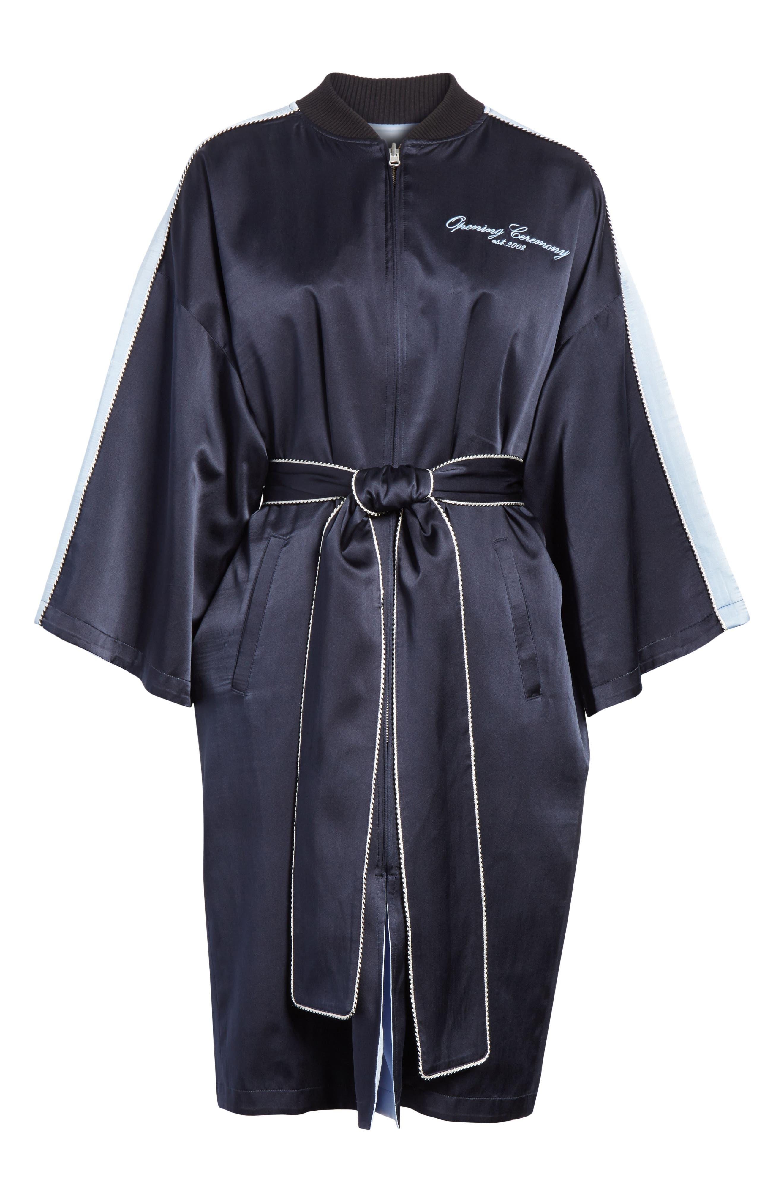OPENING CEREMONY,                             Reversible Silk Kimono Robe,                             Alternate thumbnail 7, color,                             435