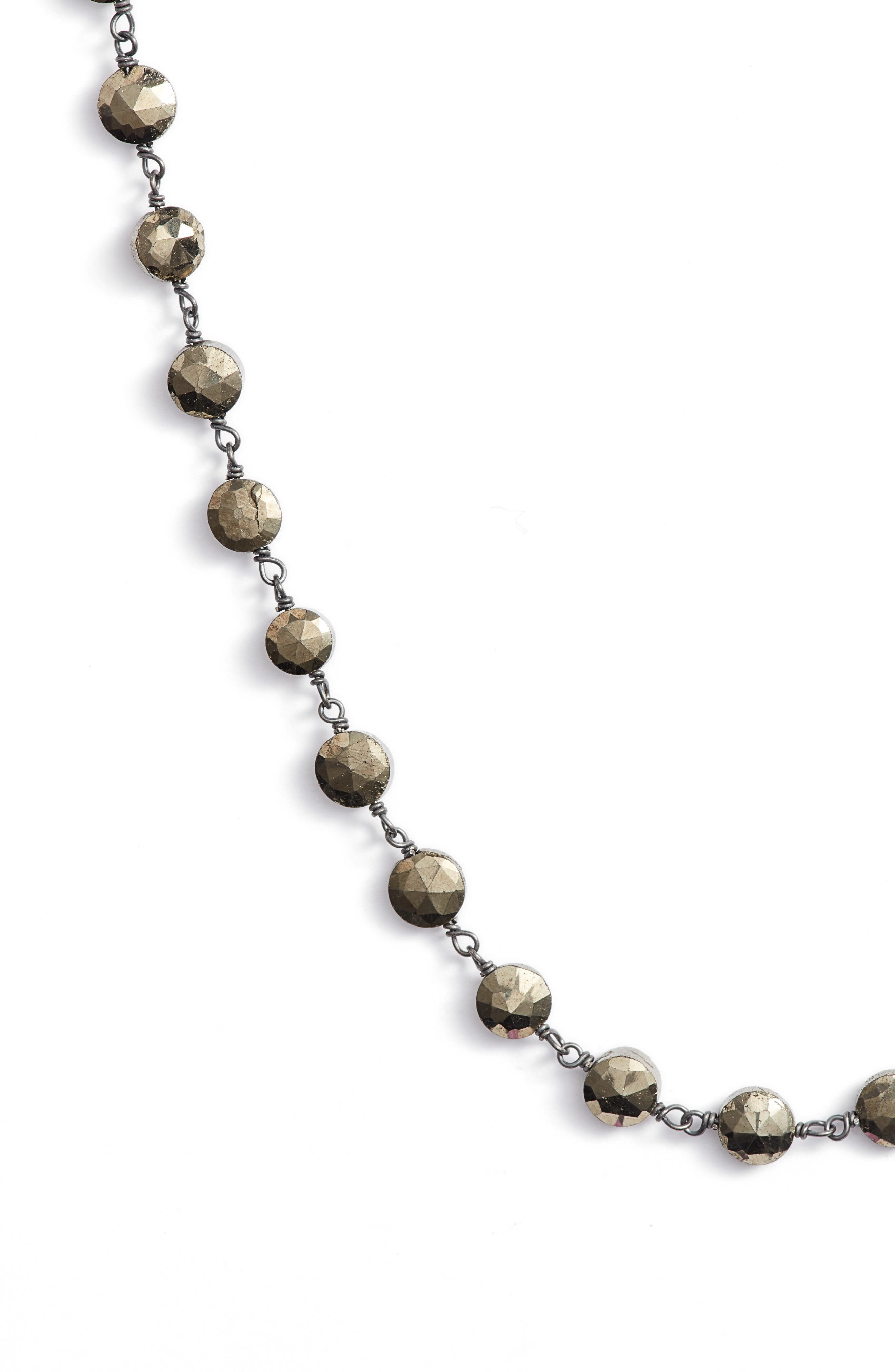 Diana Coin Necklace,                             Alternate thumbnail 2, color,                             PYRITE/ SILVER