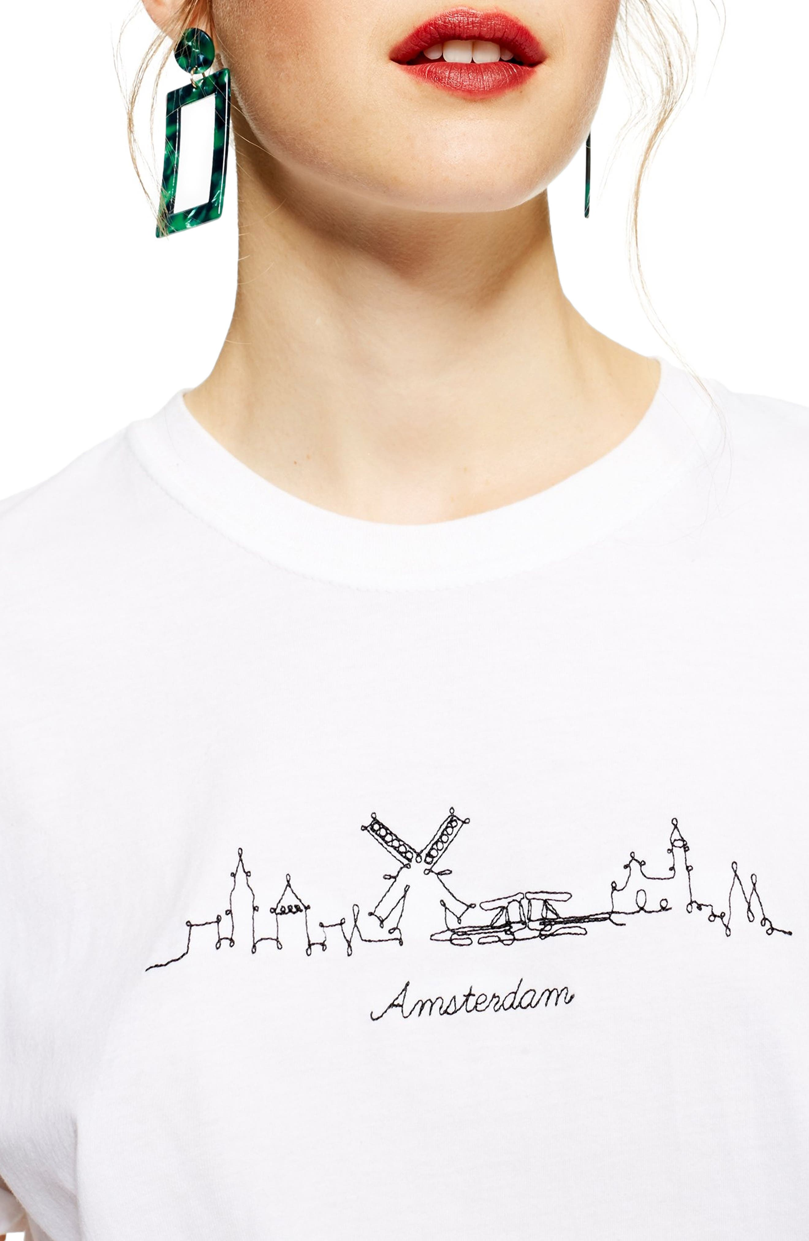 Skyline Graphic Tee,                             Alternate thumbnail 3, color,                             WHITE