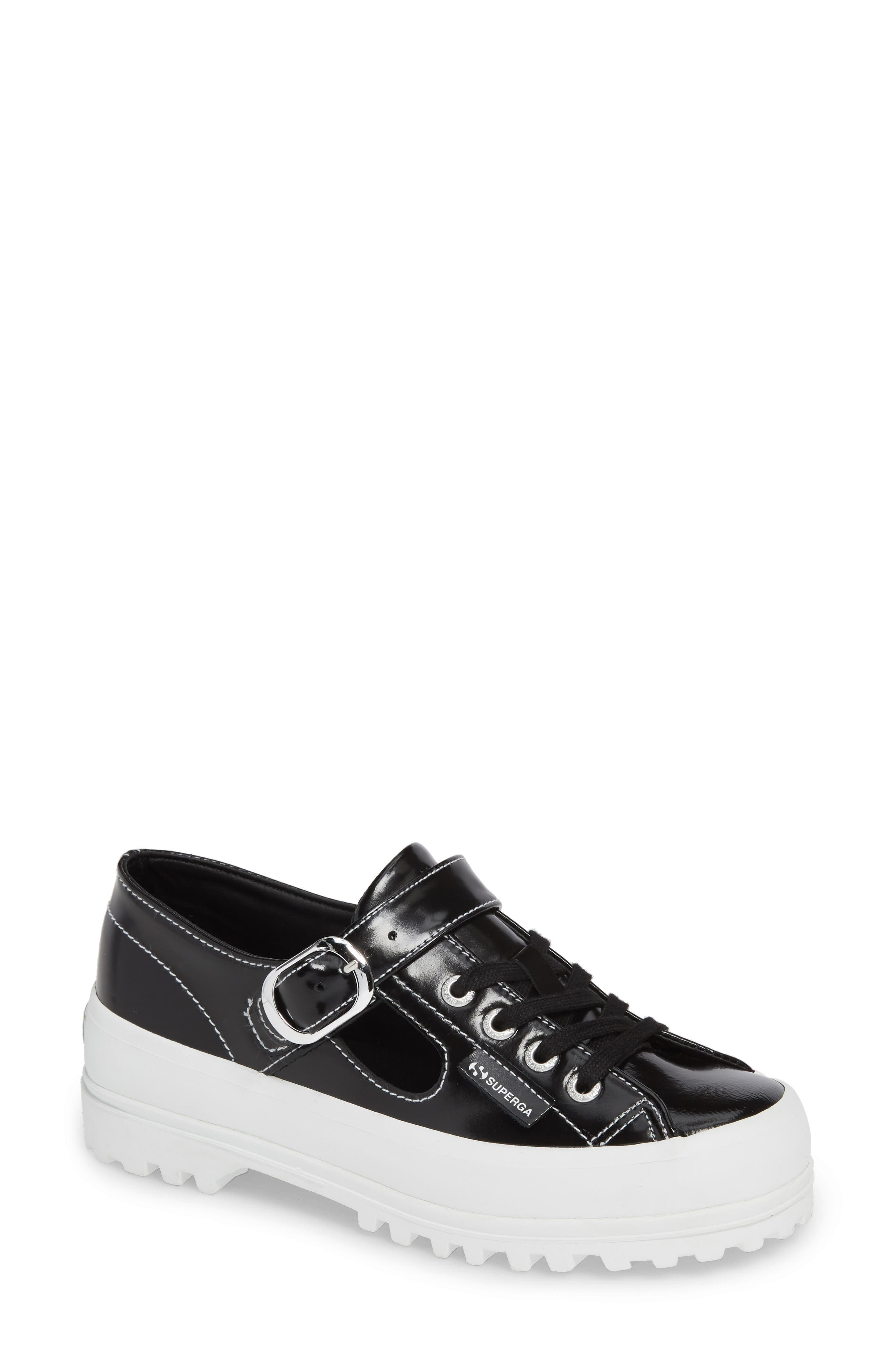 SUPERGA,                             x Alexa Chung 2254 Alpinaleapatentw Platform Sneaker,                             Main thumbnail 1, color,                             001