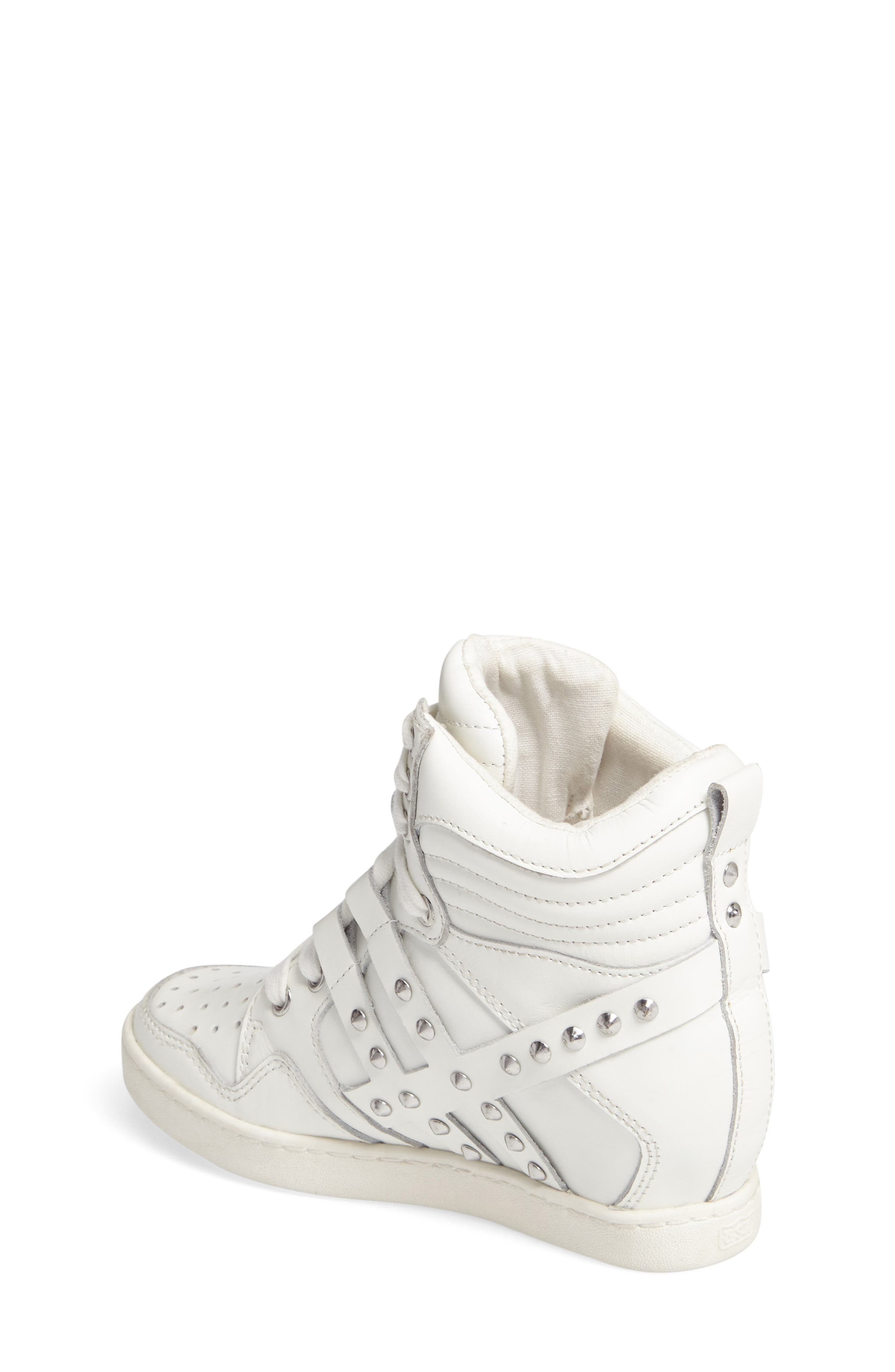 Boogie Studs High Top Sneaker,                             Alternate thumbnail 2, color,                             100