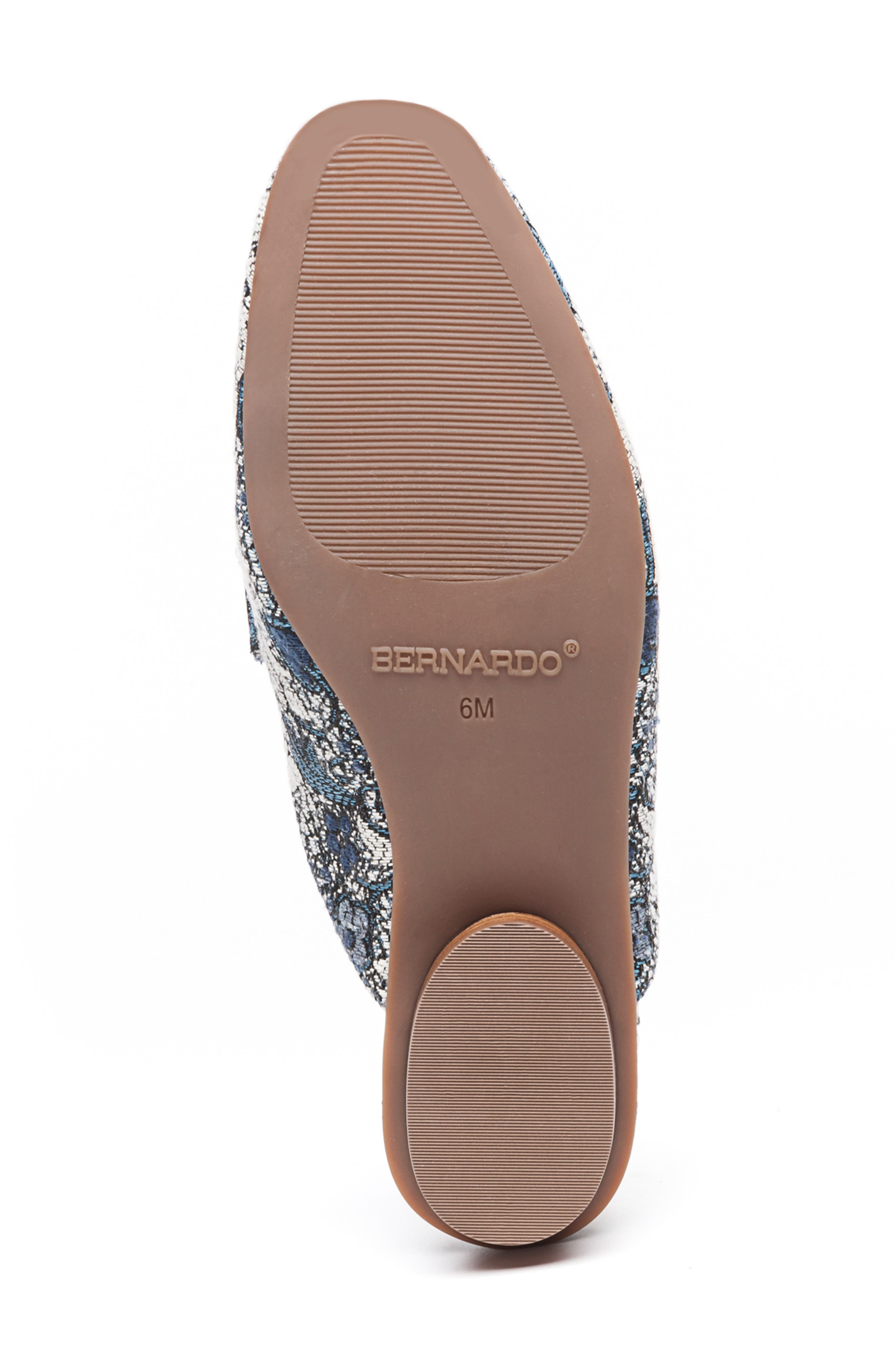 Bernardo Jen Mule,                             Alternate thumbnail 6, color,                             BLUE JACQUARD LEATHER
