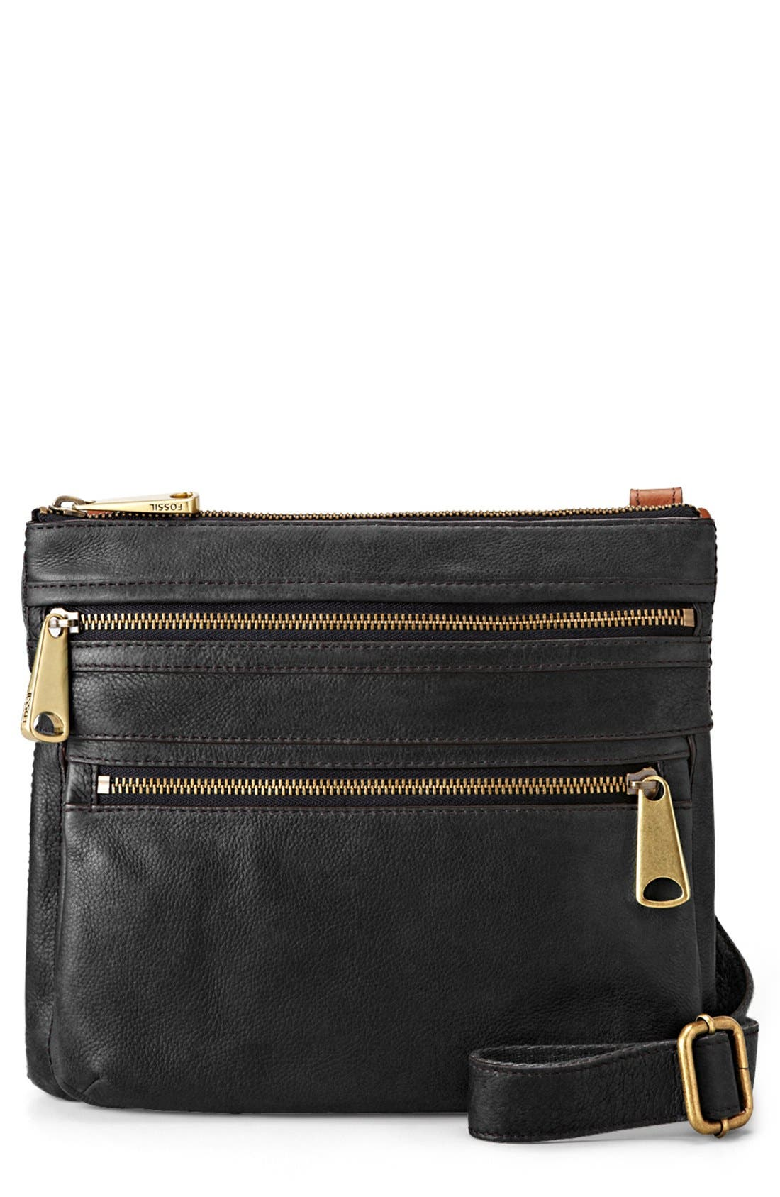 'Explorer' Crossbody Bag, Main, color, 001
