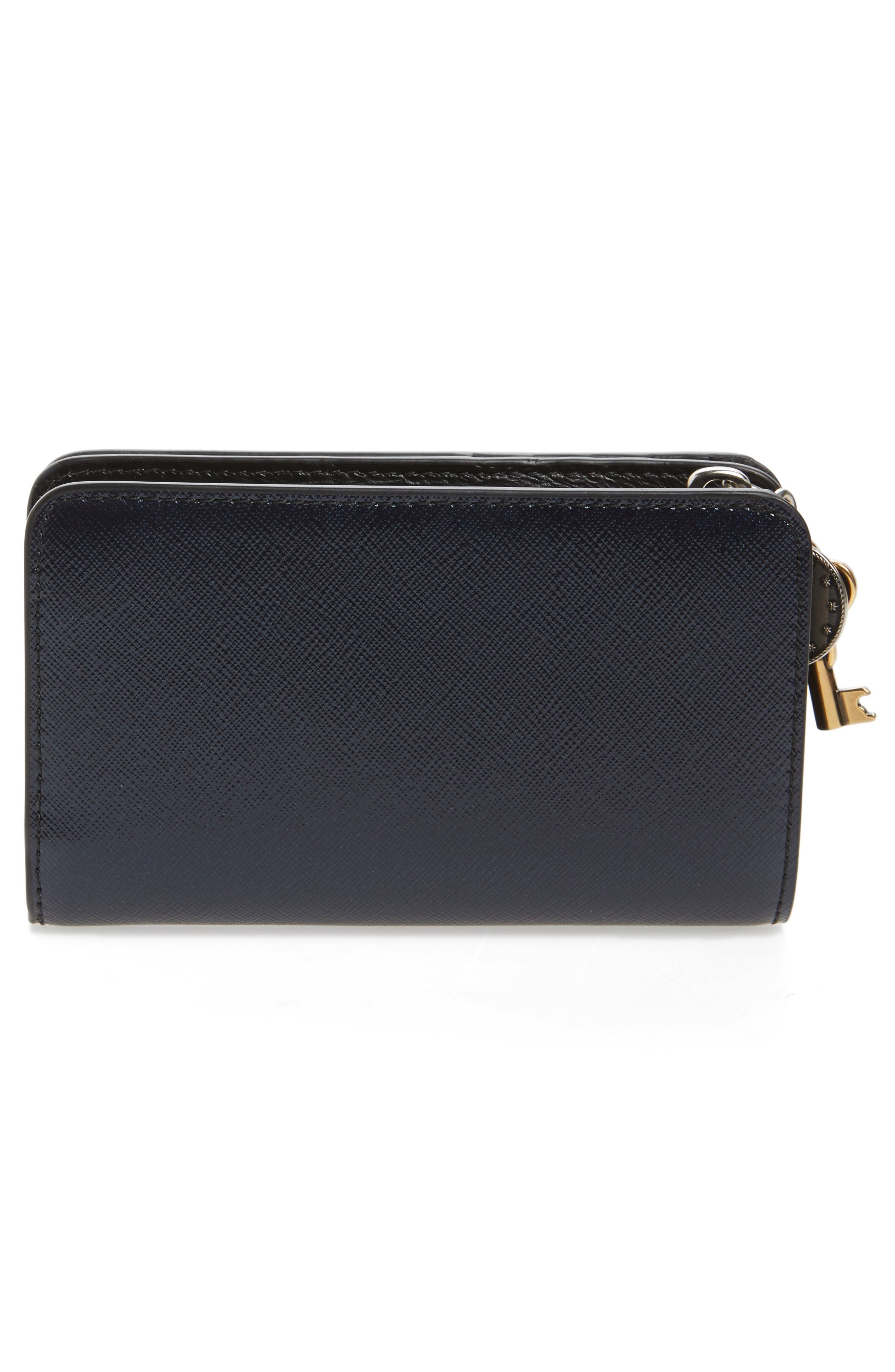Saffiano Leather Compact Wallet,                             Alternate thumbnail 3, color,
